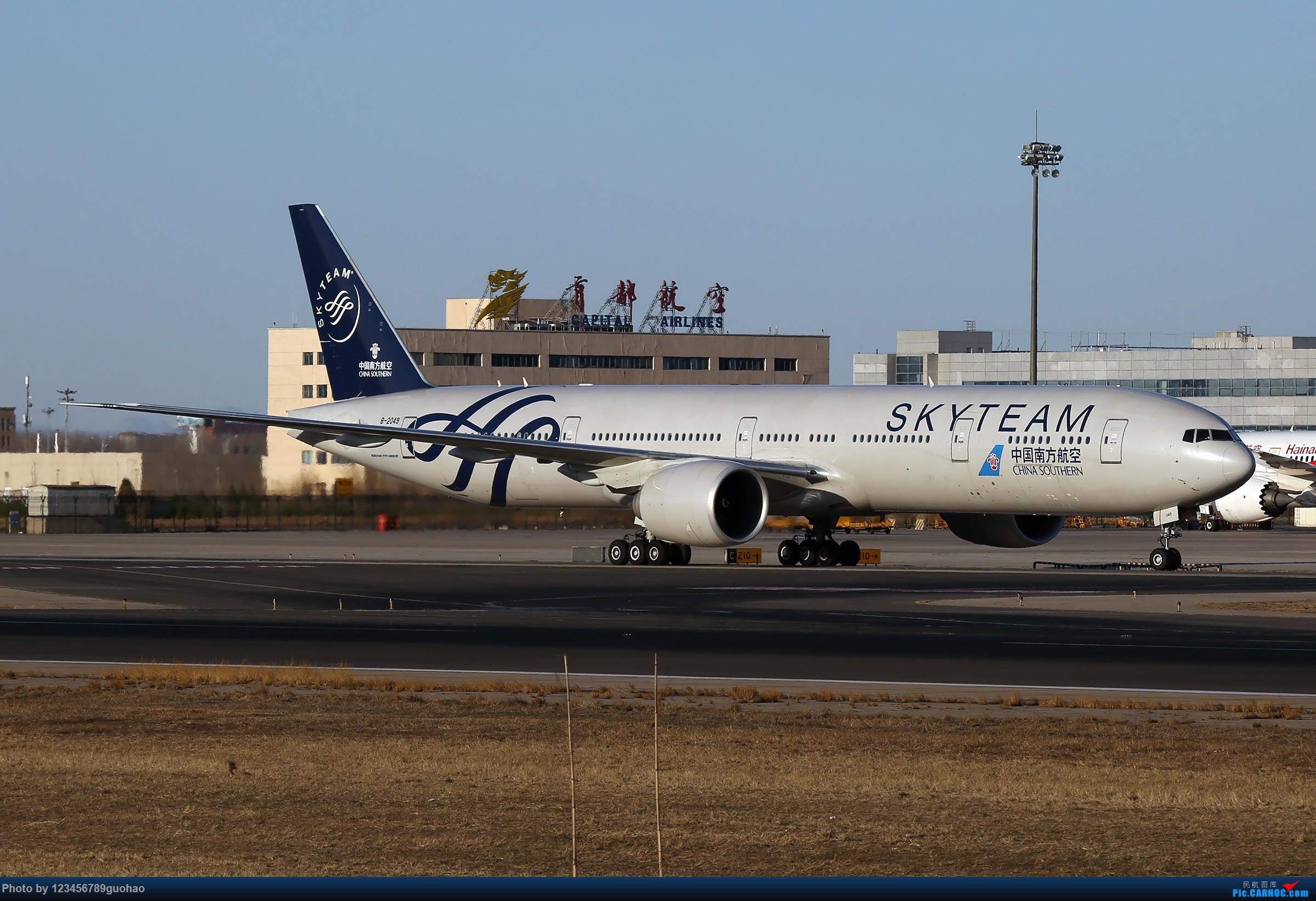 [原创]午后月色无边 BOEING 777-300ER B-2049 北京首都国际机场