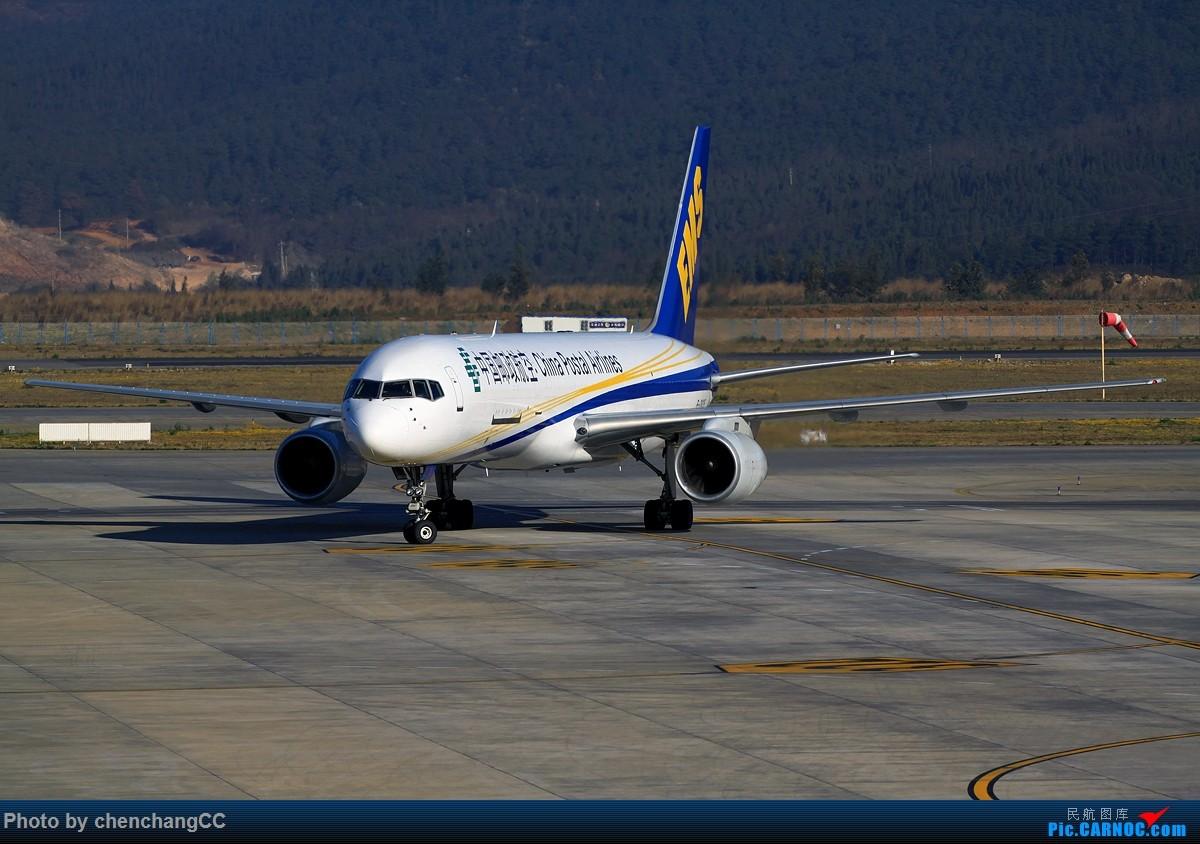 [原创]【chenchangCC】出发前拍到个邮航757 BOEING 757-200 B-2835 中国昆明长水国际机场