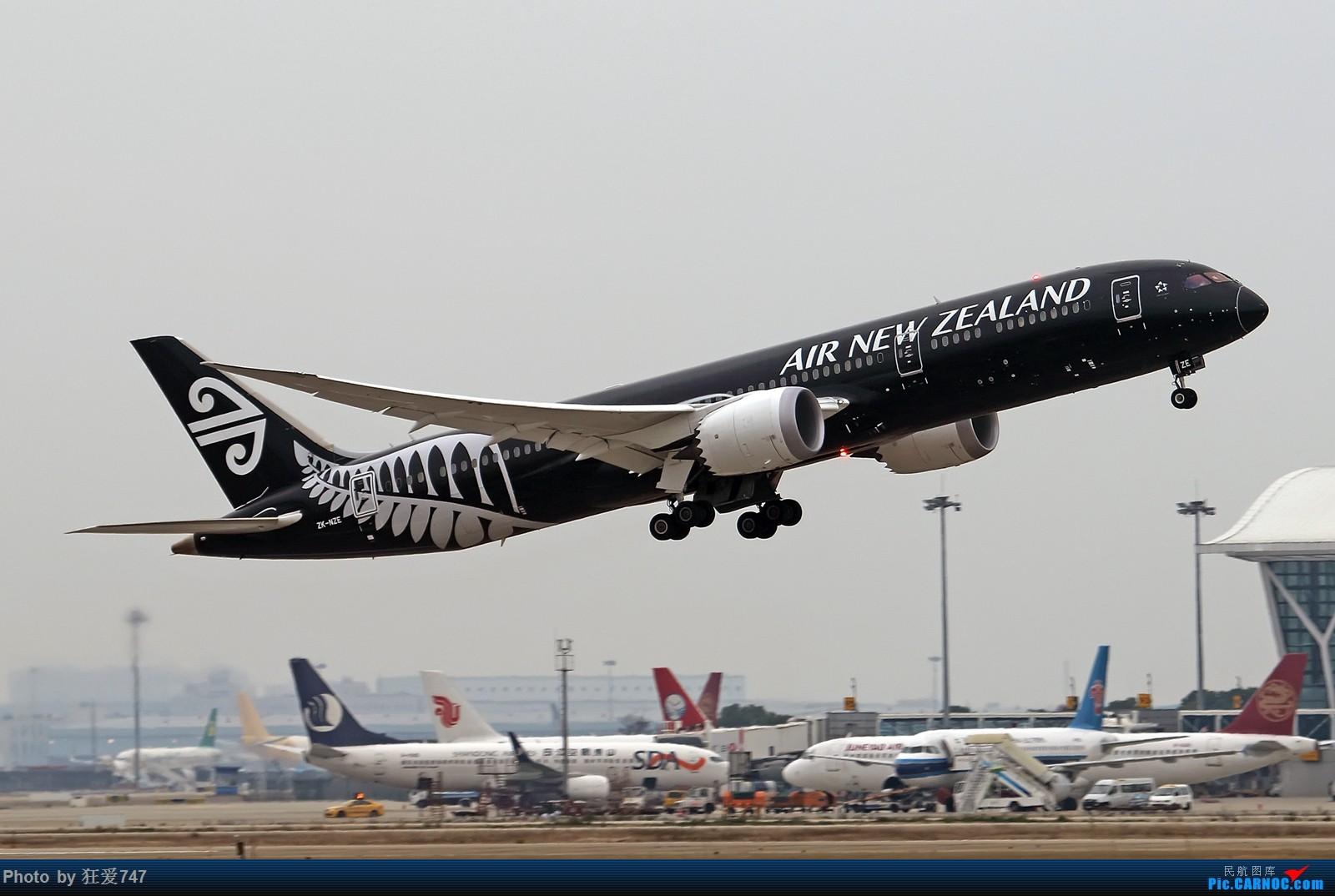 [原创]一张图:新西兰全黑波音789 BOEING 787-9 ZK-NZE 中国上海浦东国际机场