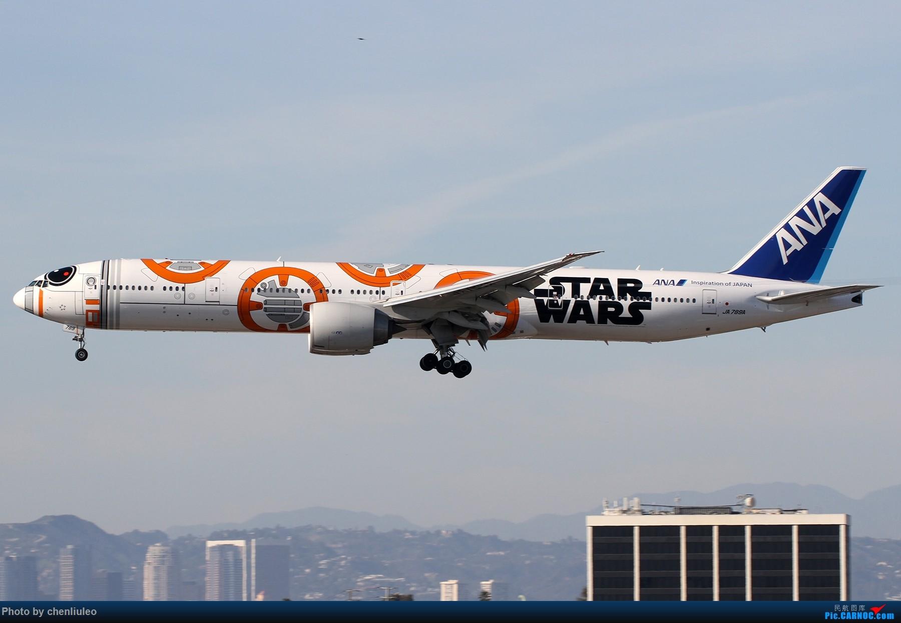 Re:[原创]【北美飞友会】全日空星球大战BB-8黄昏中降落LAX 以及一些杂图 BOEING 777-300ER JA789A 美国洛杉矶机场