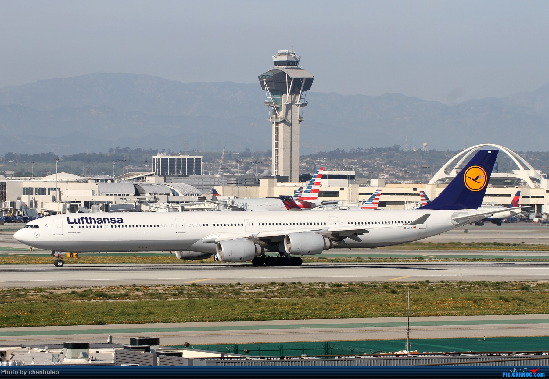 Re:[原创]【北美飞友会】全日空星球大战BB-8黄昏中降落LAX 以及一些杂图 AIRBUS A340-600 D-AIHY 美国洛杉矶机场