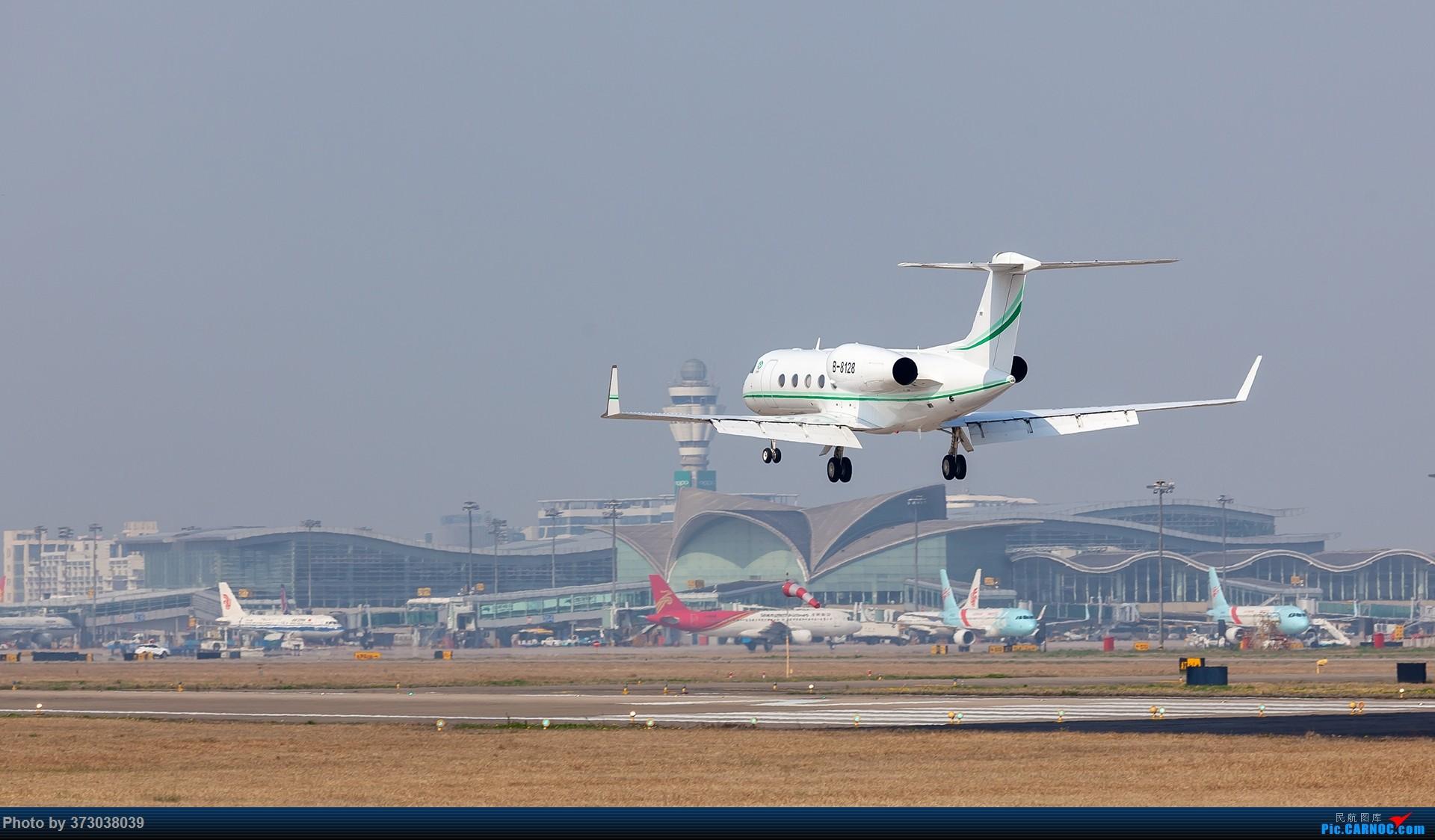 Re:[原创]HGH杭州萧山国际机场 落地的 公务机大佬们 湾流 GULFSTREAM G450 B-8128 中国杭州萧山国际机场