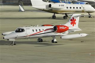 【PEK】【夜景】Global Jetcare, N41GJ, 里尔 Learjet 36A