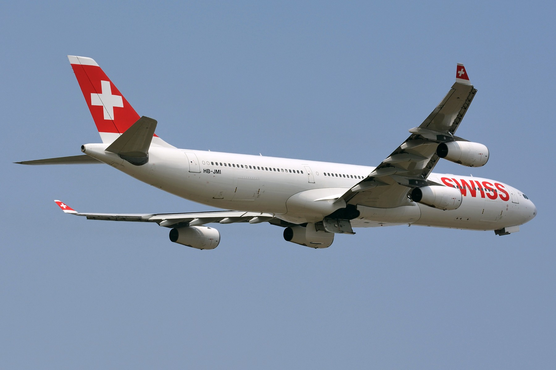 [原创]【PVG】瑞士航空 A340-300 HB-JMI 起飞一图 AIRBUS A340-300 HB-JMI 中国上海浦东国际机场