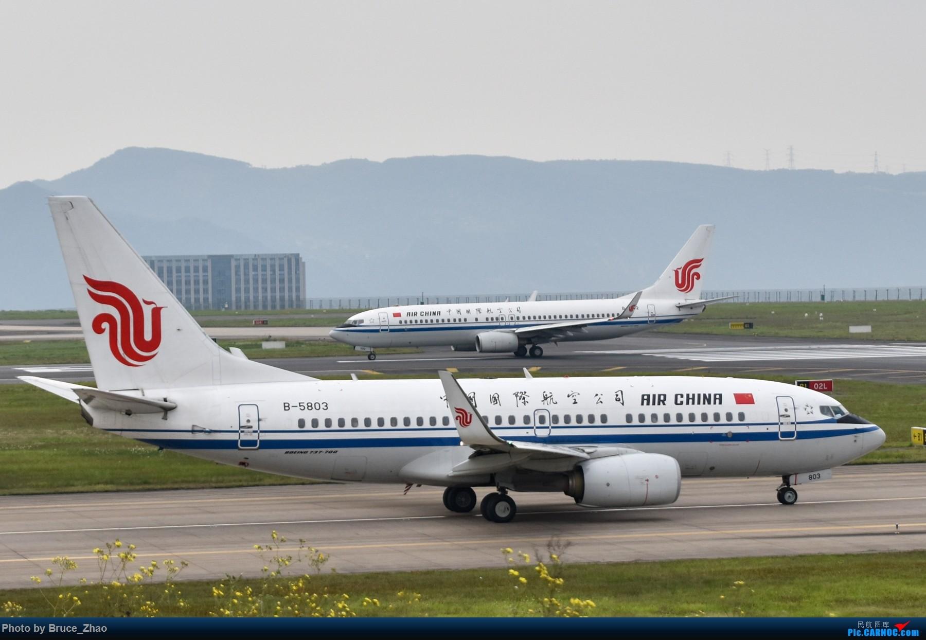 Re:[原创][CKG] 4月拍机——(2) BOEING 737-700 B-5803 中国重庆江北国际机场