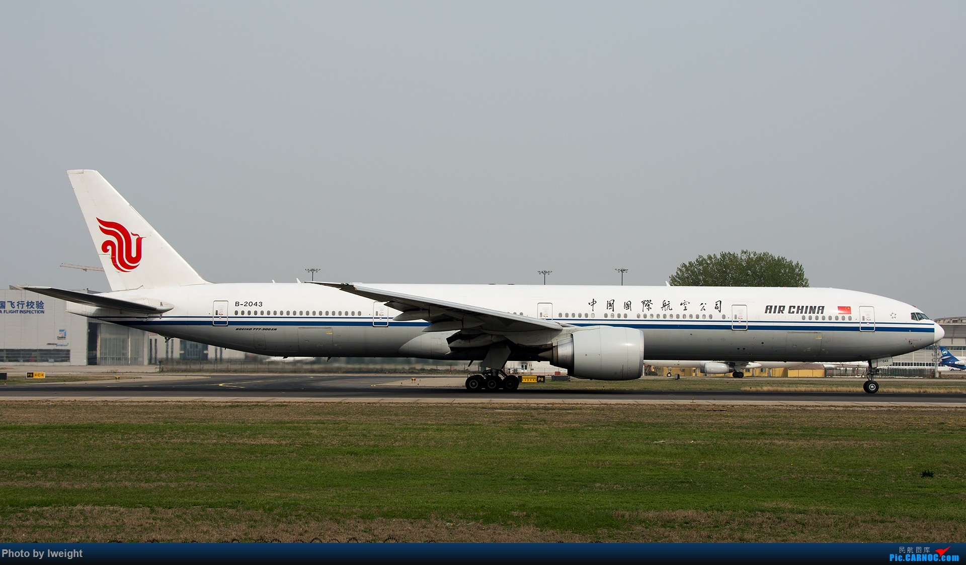 Re:[原创]霾,18R,高密度 BOEING 777-300ER B-2043 中国北京首都国际机场