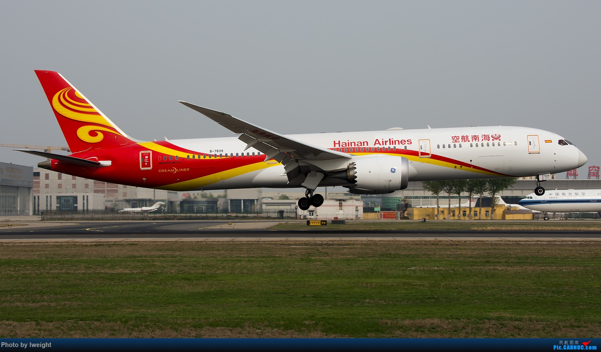 Re:[原创]霾,18R,高密度 BOEING 787-9 B-7839 中国北京首都国际机场