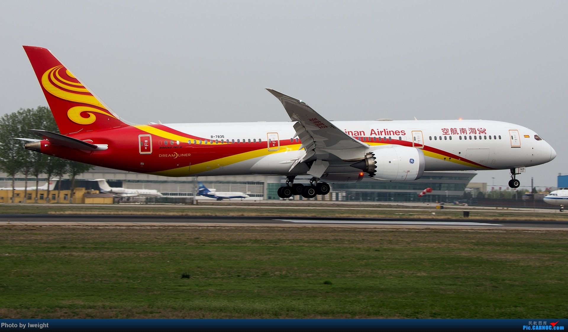 Re:霾,18R,高密度 BOEING 787-9 B-7835 中国北京首都国际机场