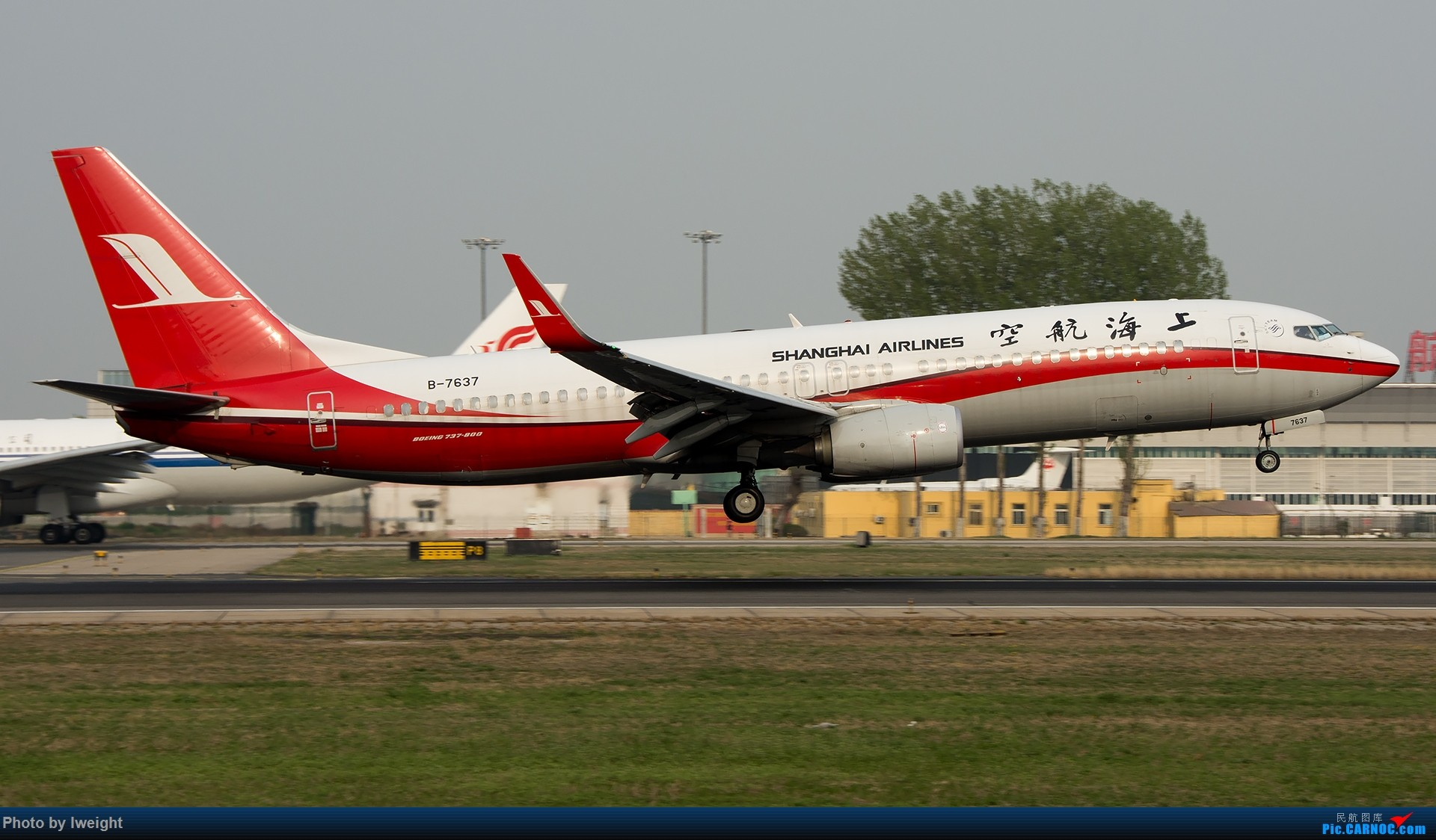 Re:[原创]霾,18R,高密度 BOEING 737-800 B-7637 中国北京首都国际机场
