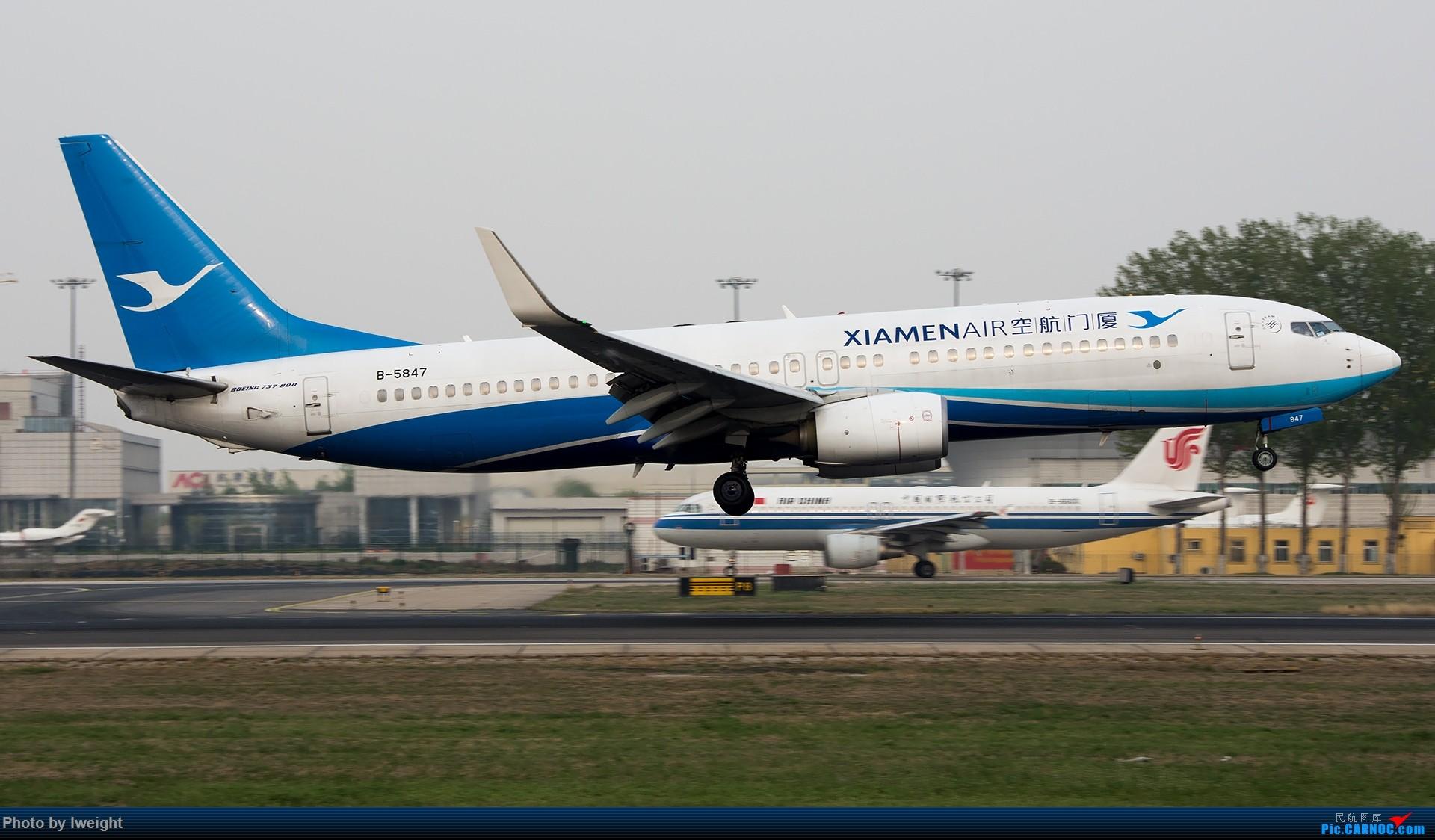 Re:[原创]霾,18R,高密度 BOEING 737-800 B-5847 中国北京首都国际机场