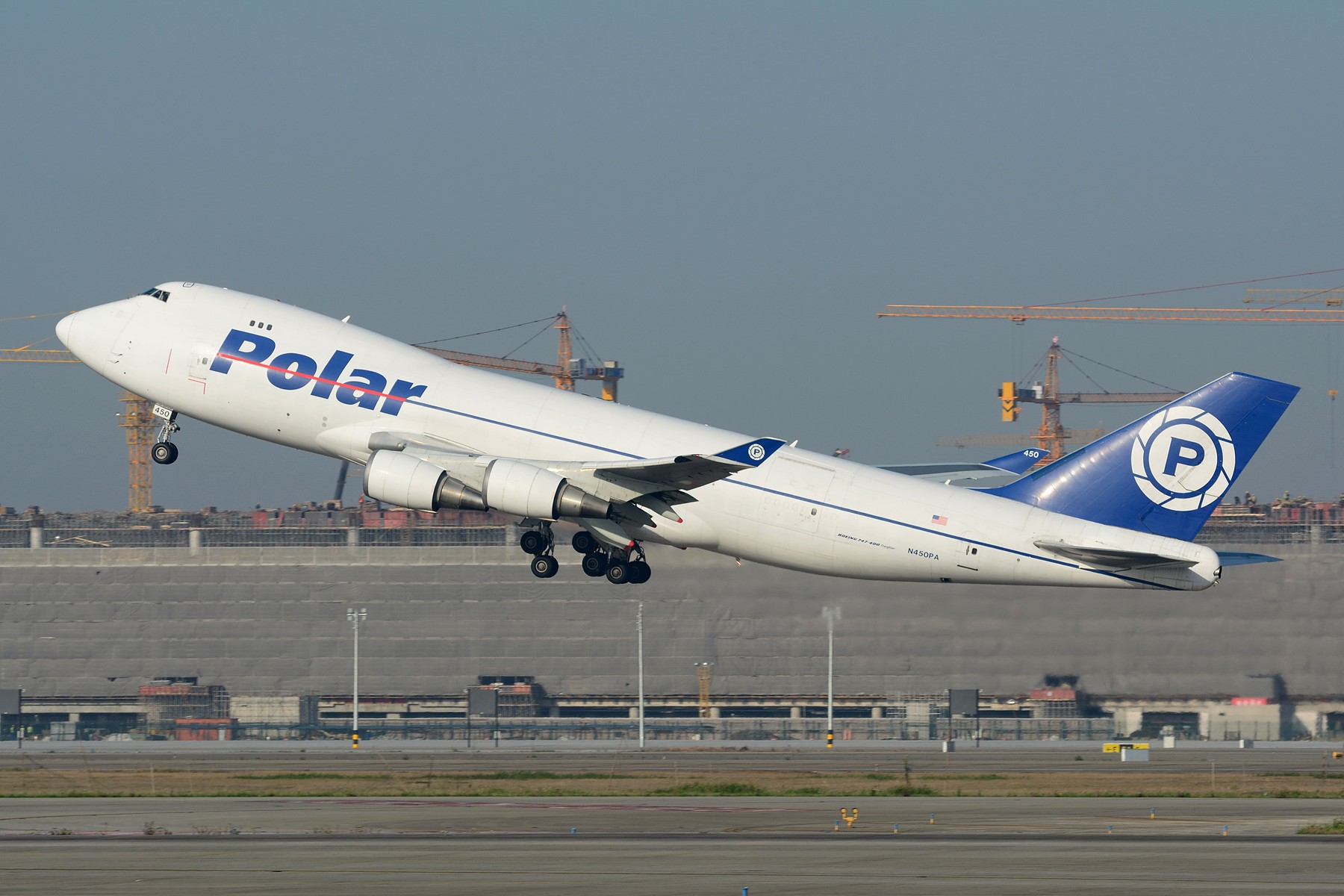 【PVG】一图党之极地货运747-400F强势拉起 BOEING 747-400F N450PA 中国上海浦东国际机场
