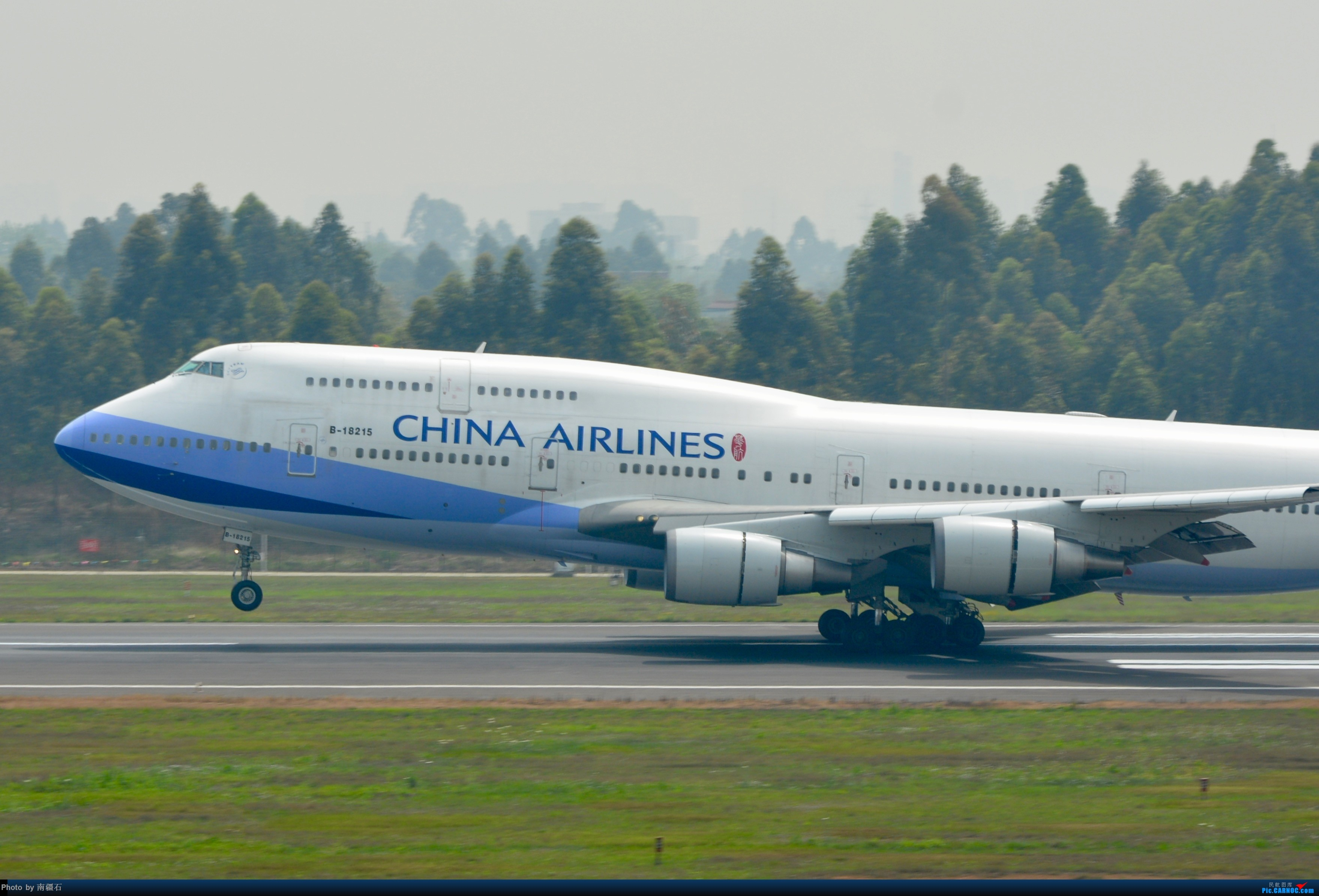 [原创]CTU 华航744霸气擦烟 BOEING 747-400 B-18215 中国成都双流国际机场