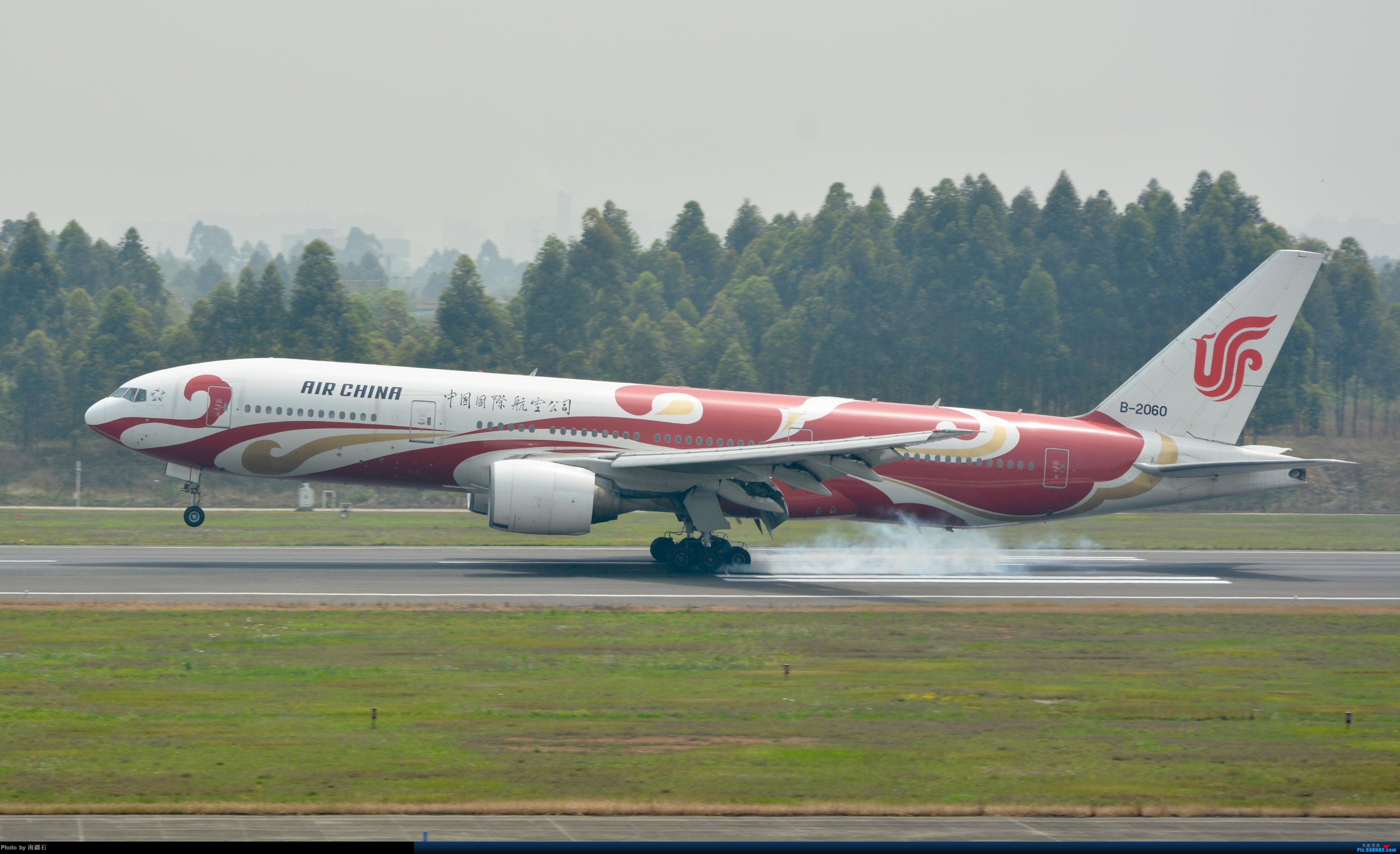 CTU 国航772 红祥云 BOEING 777-200 B-2060 中国成都双流国际机场