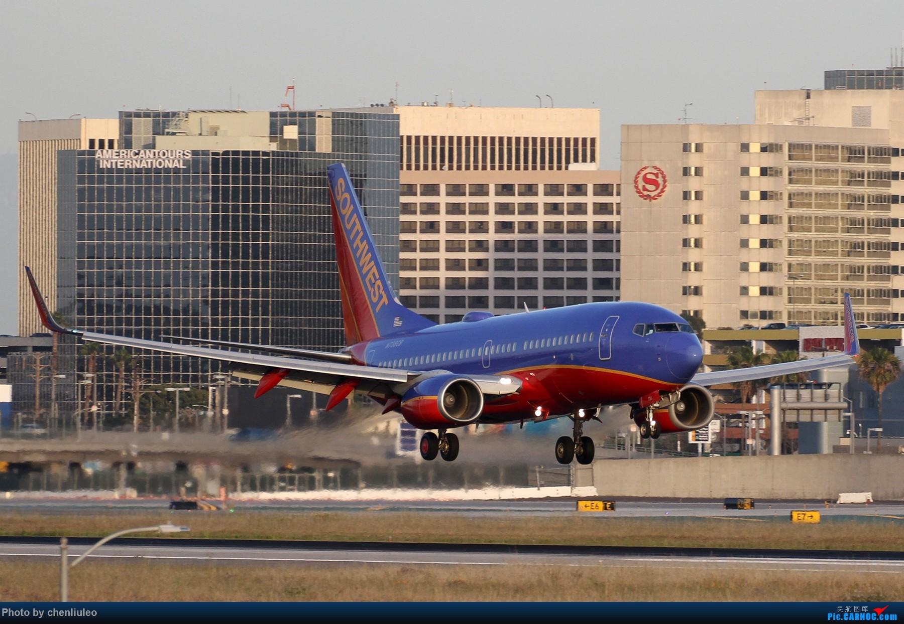 Re:[原创]【北美飞友会】洛杉矶世界机场黄昏随拍 BOEING 737-700 N738CB 美国洛杉矶机场