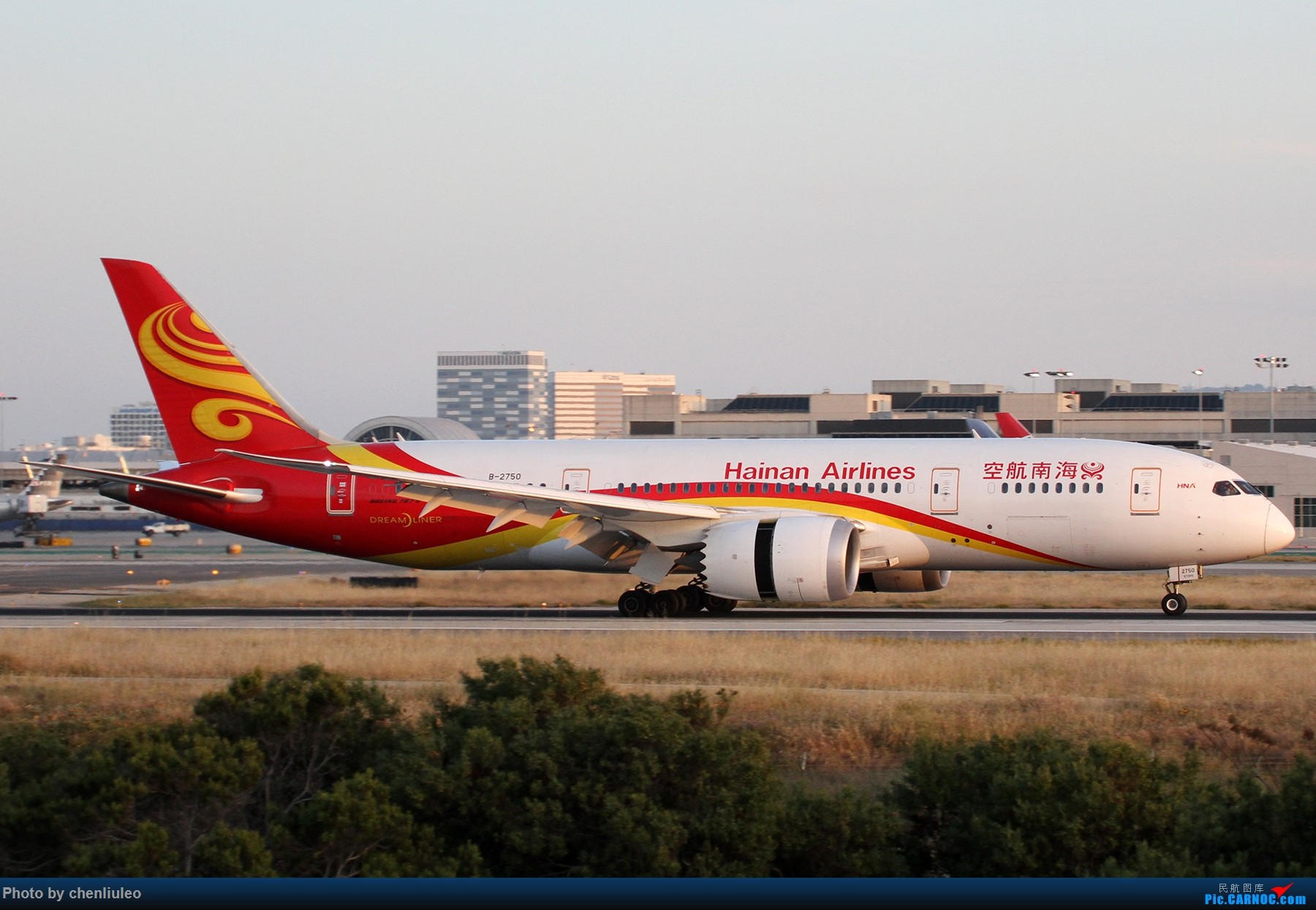 Re:[原创]【北美飞友会】洛杉矶世界机场黄昏随拍 BOEING 787-8 B-2750 美国洛杉矶机场