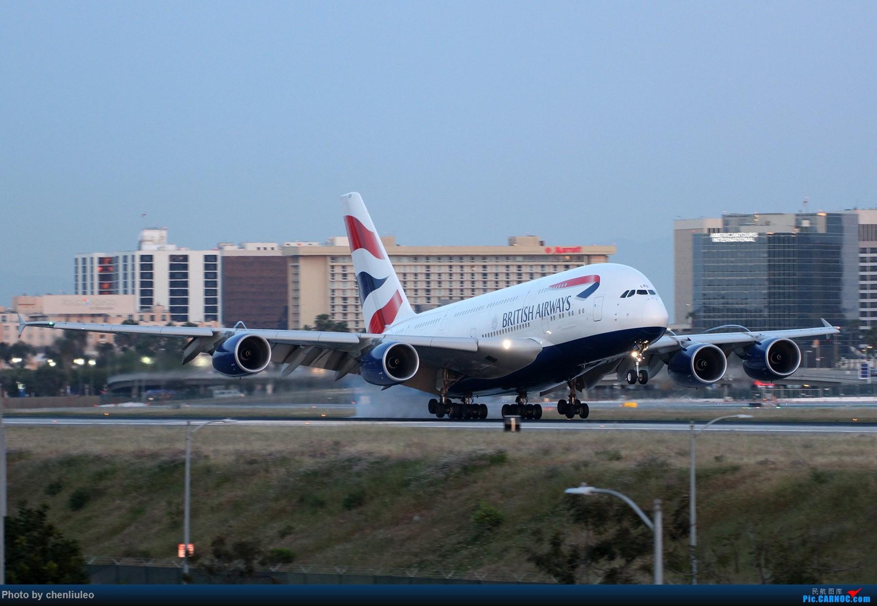 Re:[原创]【北美飞友会】洛杉矶世界机场黄昏随拍 AIRBUS A380-800 G-XLED 美国洛杉矶机场