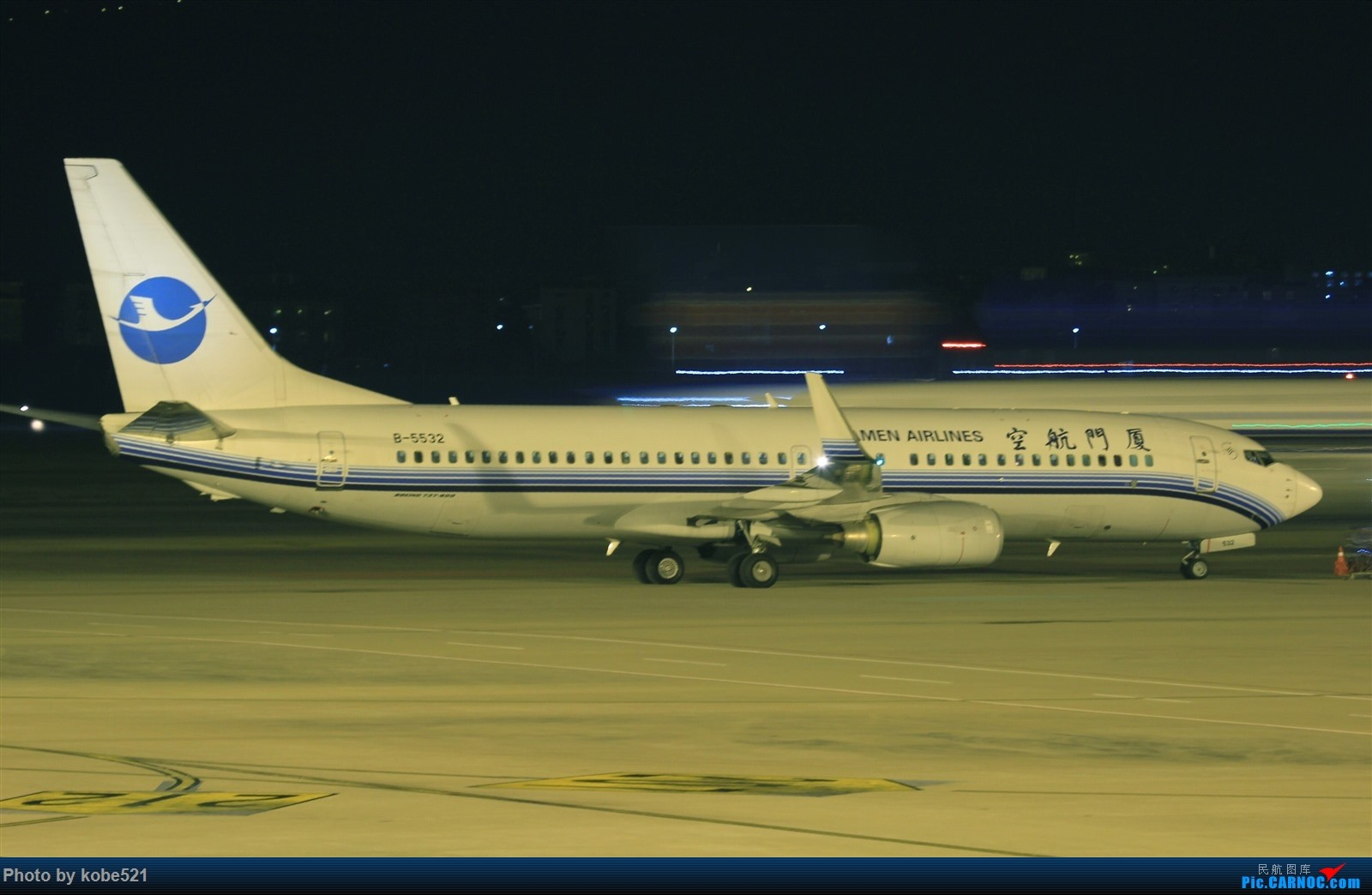 [原创]撸一把夜景~ BOEING 737-800 B-5532 中国杭州萧山国际机场