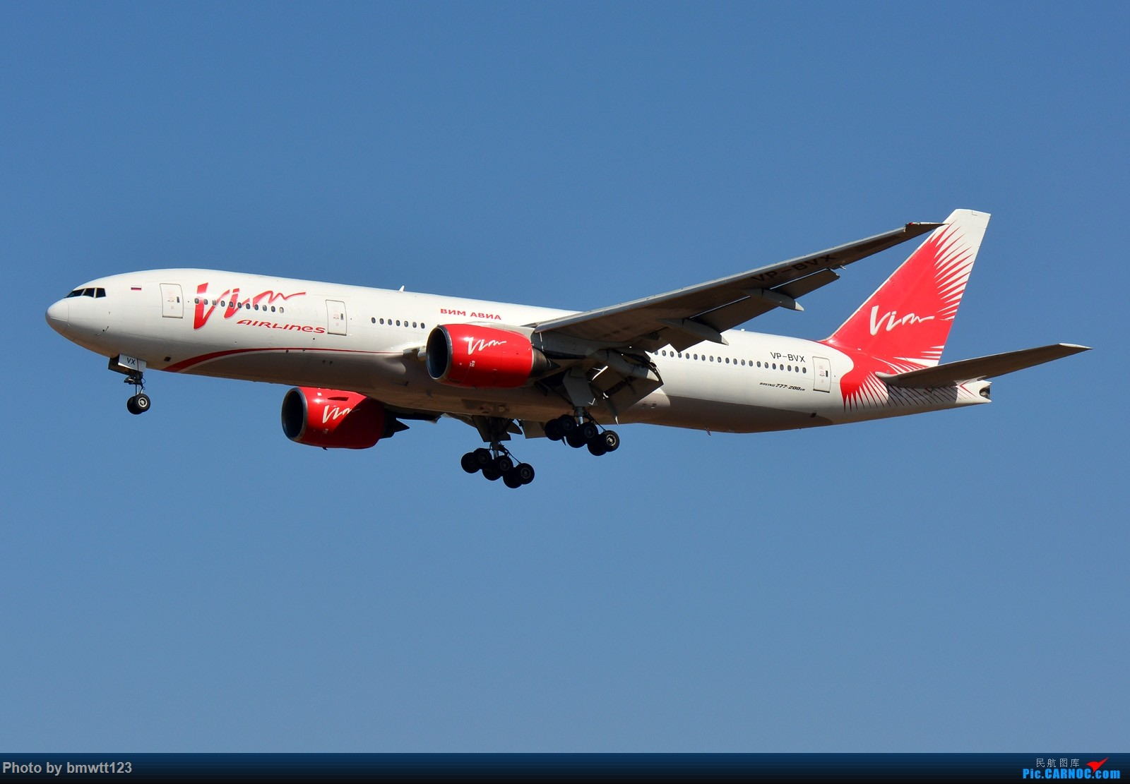 [原创]【SHE沈阳】威姆航空777-200ER降落桃仙机场,她来自遥远的莫斯科。 BOEING 777-200ER VP-BVX 中国沈阳桃仙国际机场