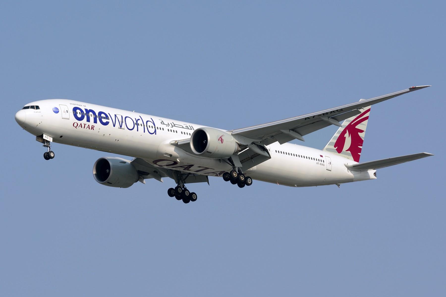 [原创]【PVG】三条七 BOEING 777-300ER A7-BAG 中国上海浦东国际机场