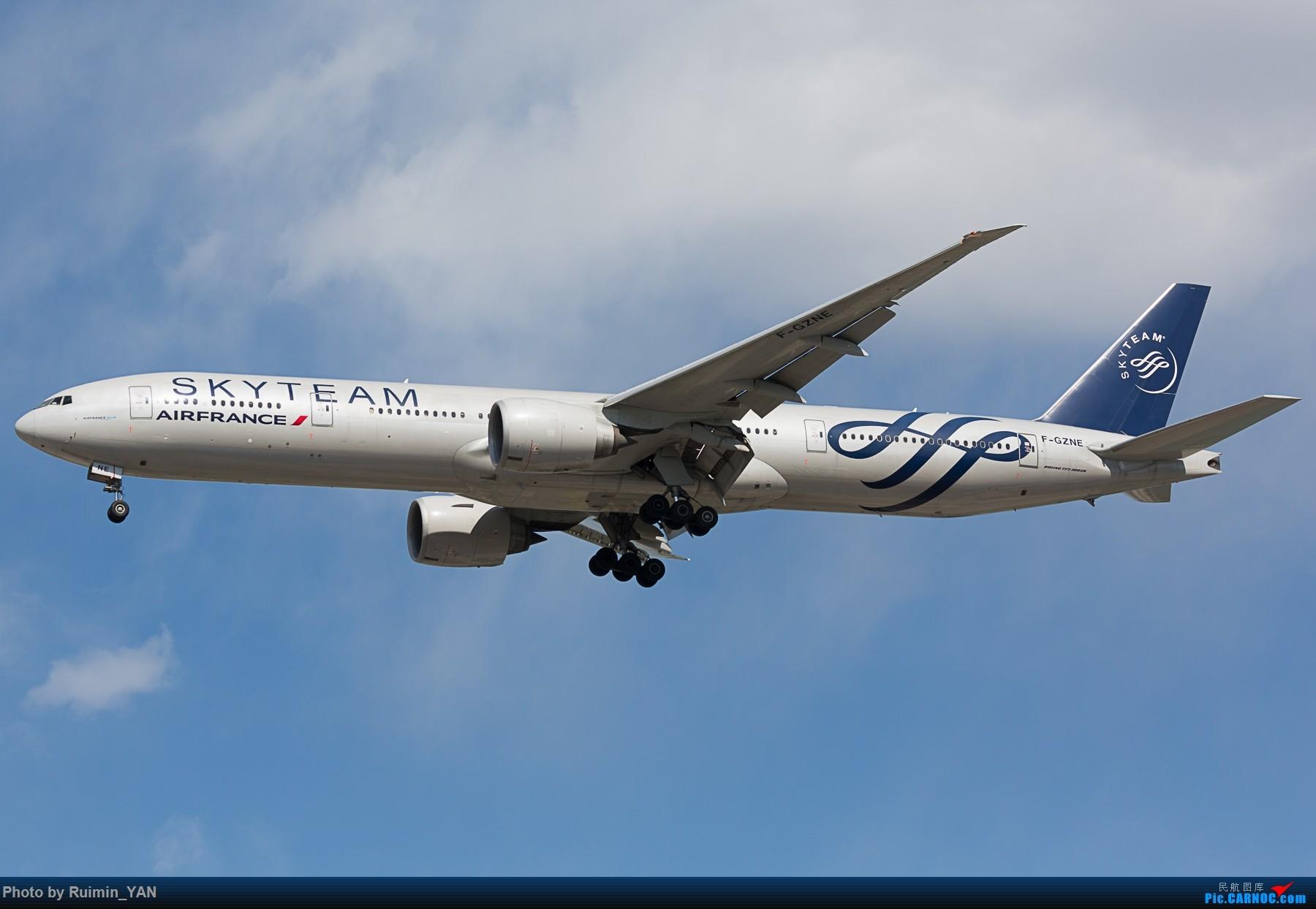 Re:[原创]【PEK】【天合联盟】【祥云】法航(Air France) F-GZNE 77W BOEING 777-300ER F-GZNE 中国北京首都国际机场
