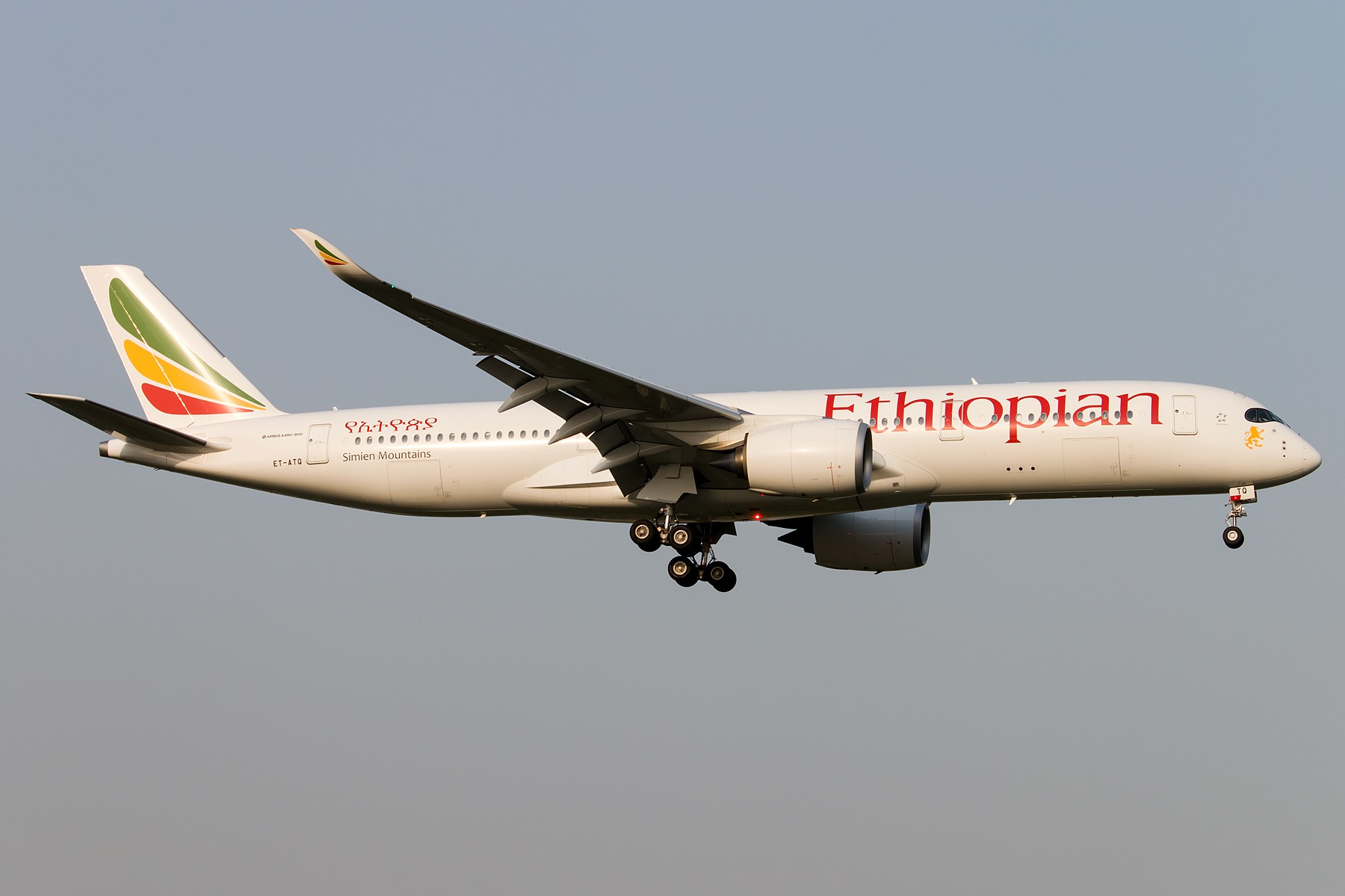 [原创][一图党]埃塞俄比亚航空 A350-900XWB首航北京 1800*1200 AIRBUS A350-900XWB ET-ATQ 中国北京首都国际机场