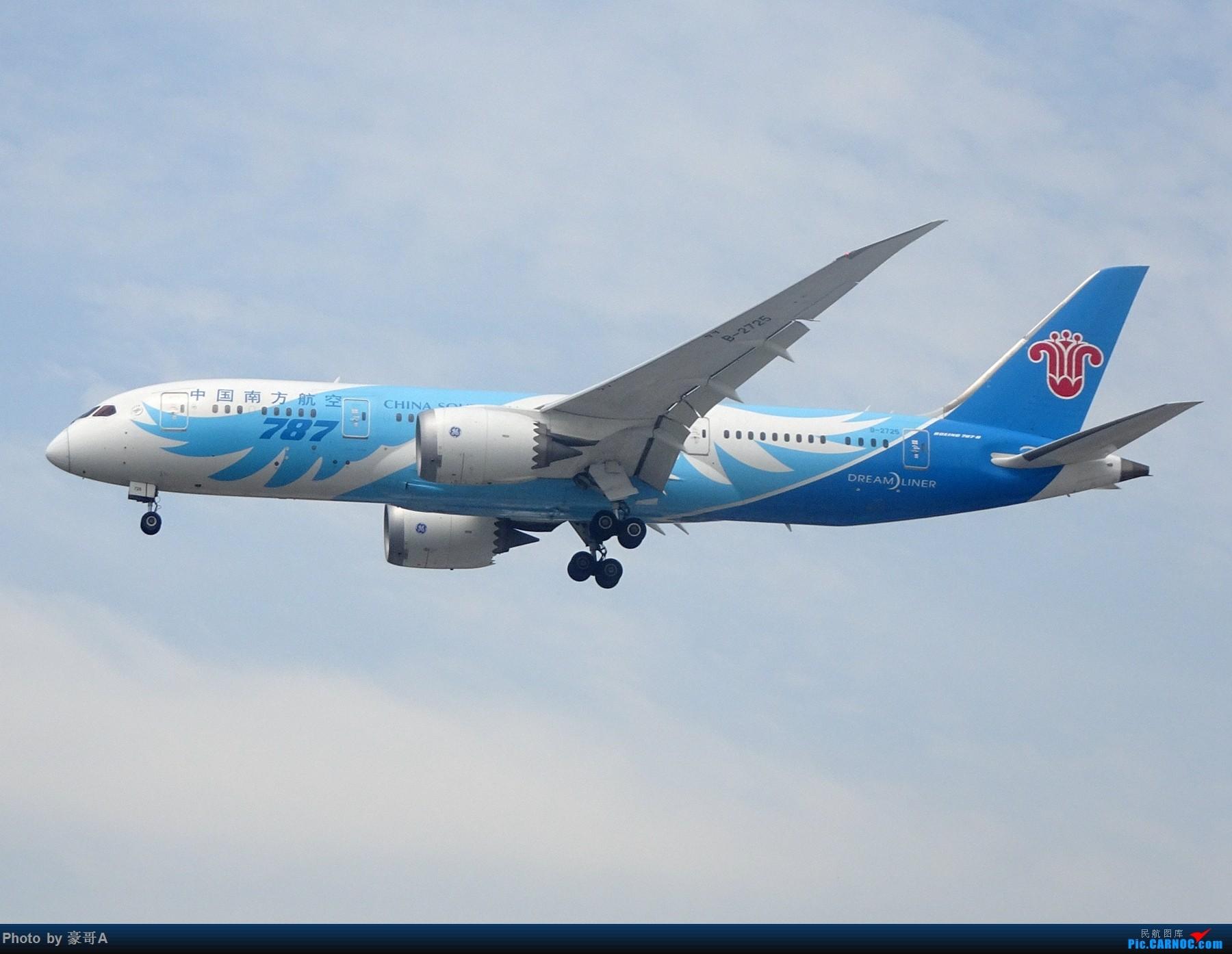 [原创]SHA天气越来越烂 BOEING 787-8 B-2725 中国上海虹桥国际机场