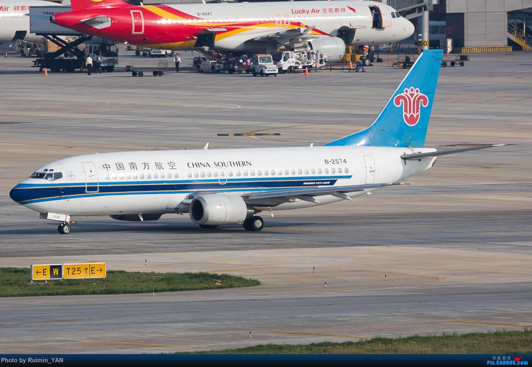 [原创]【KMG】【起飞】告别 南航(CZ) B-2574 B733 BOEING 737-300 B-2574 中国昆明长水国际机场