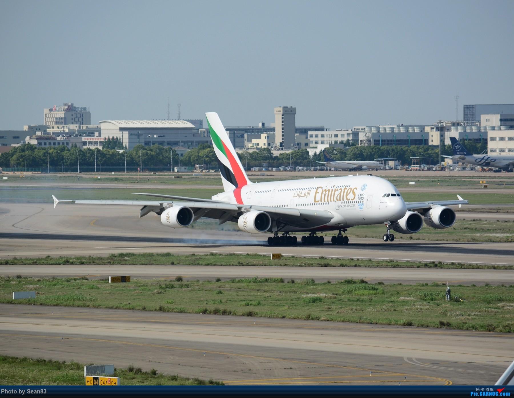 Re:[原创]阿联酋大胖 降落 AIRBUS A380  上海浦东国际机场