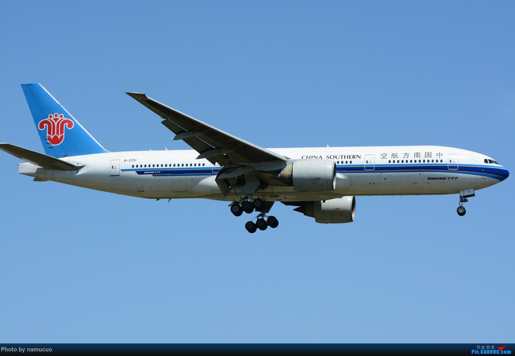 Re:[原创]【PEK】【多图】蓝天下的大飞机们,5.15跑遍首都三条跑道 BOEING 777-200 B-2051