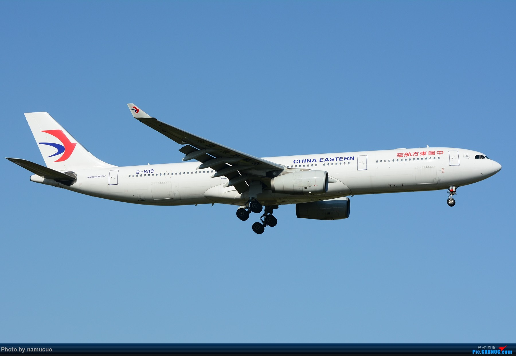Re:[原创]【PEK】【多图】蓝天下的大飞机们,5.15跑遍首都三条跑道 AIRBUS A330-300 B-6119