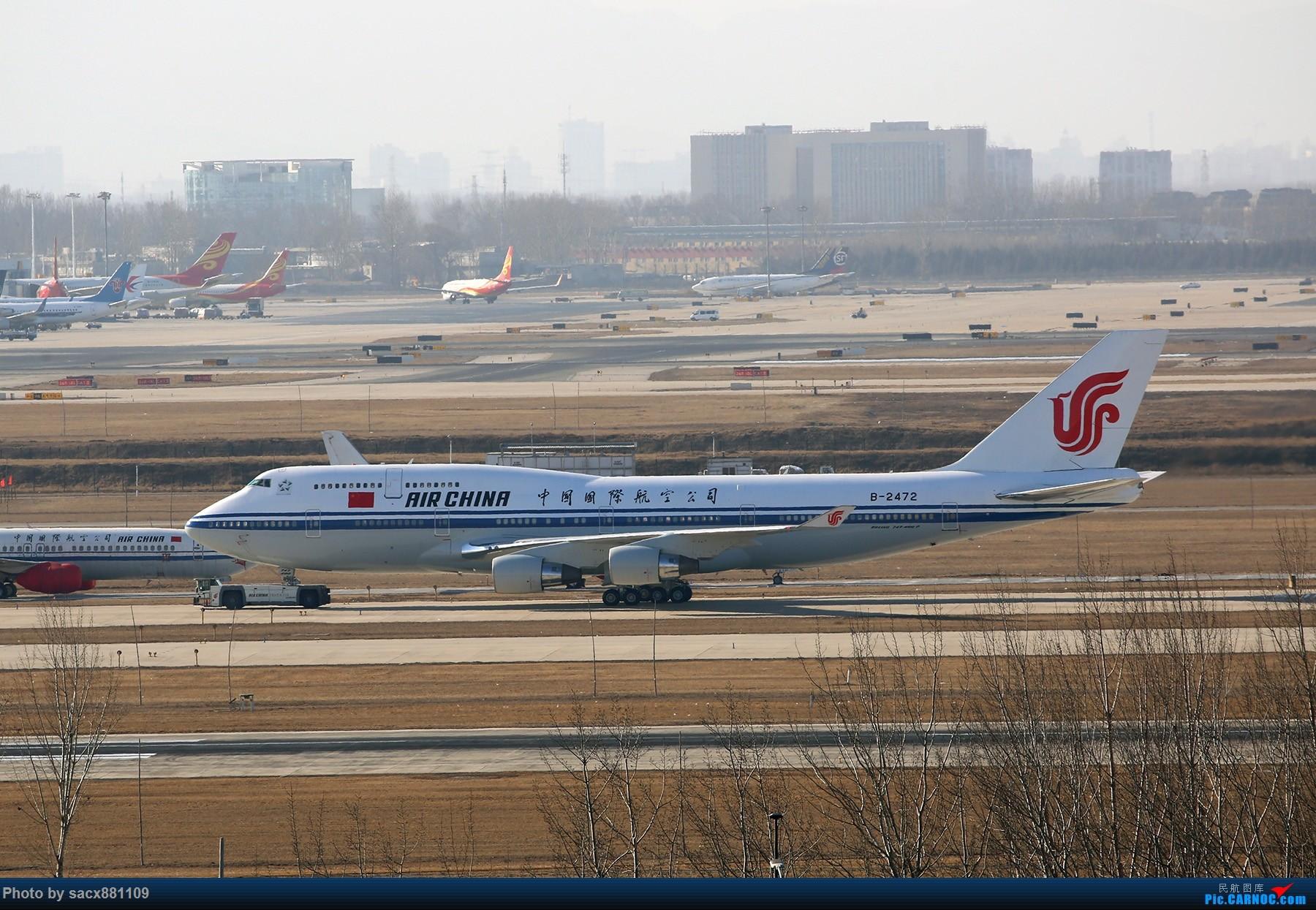 一图党-出访之前 BOEING 747-400 B-2472 中国北京首都国际机场