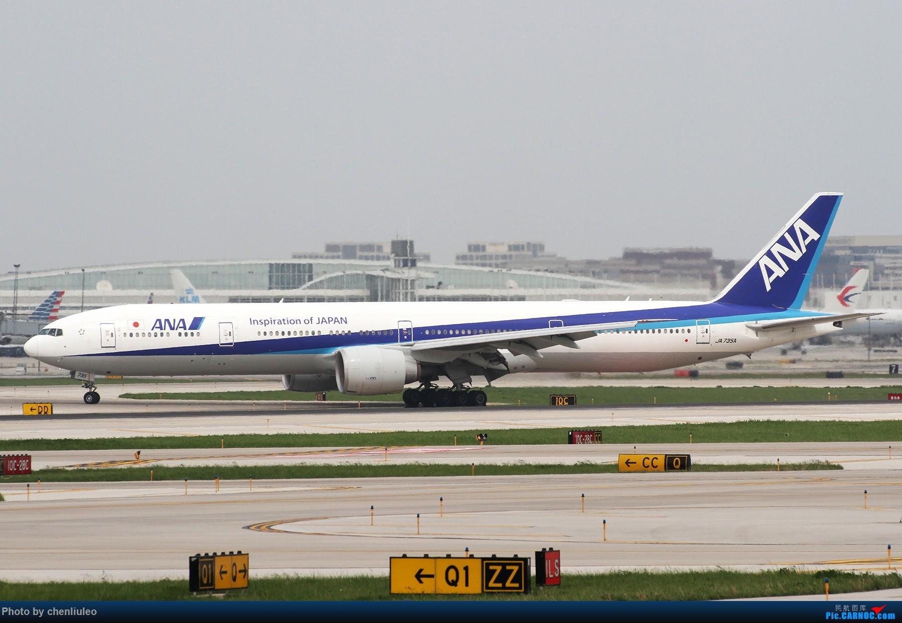 Re:[原创]【北美飞友会】芝加哥奥黑尔机场首拍 BOEING 777-300ER JA735A 美国芝加哥奥黑尔国际机场