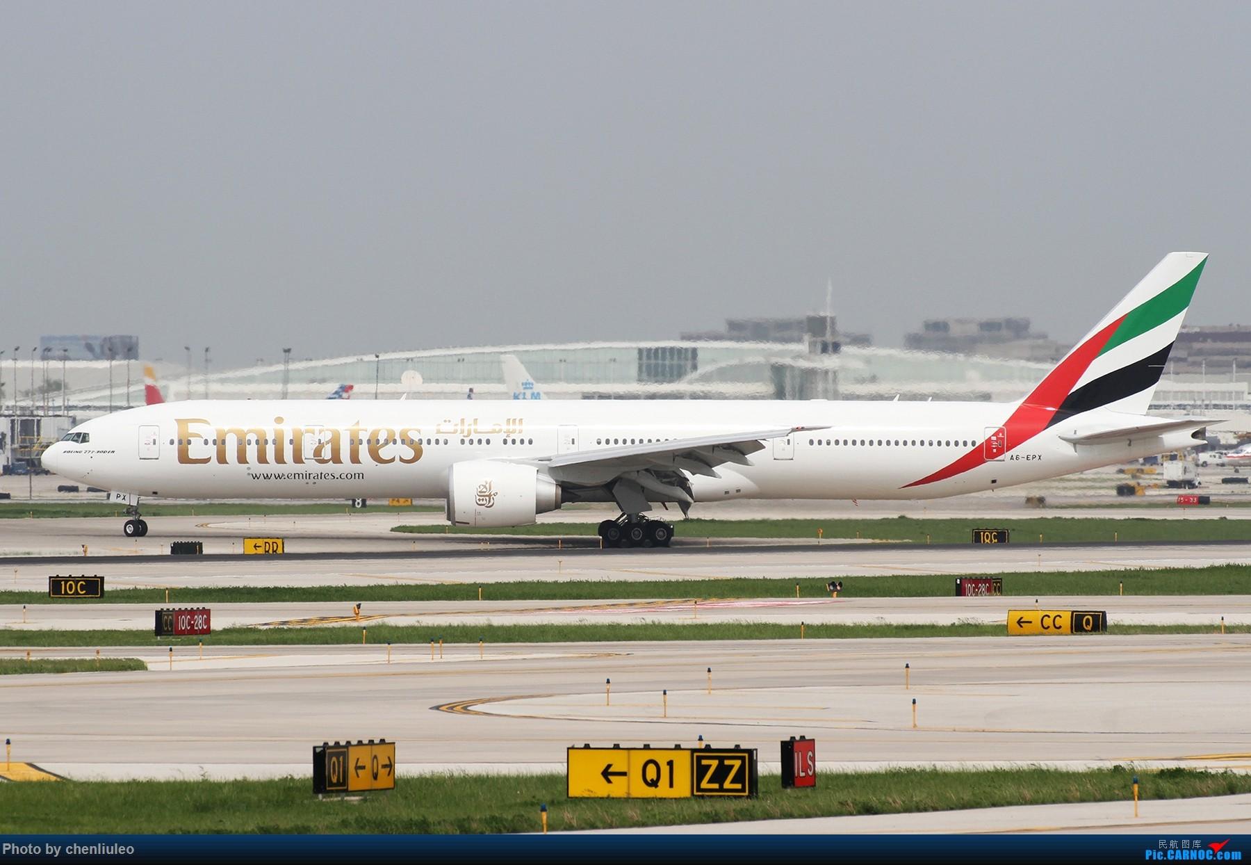 Re:[原创]【北美飞友会】芝加哥奥黑尔机场首拍 BOEING 777-300ER A6-EPX 美国芝加哥奥黑尔国际机场