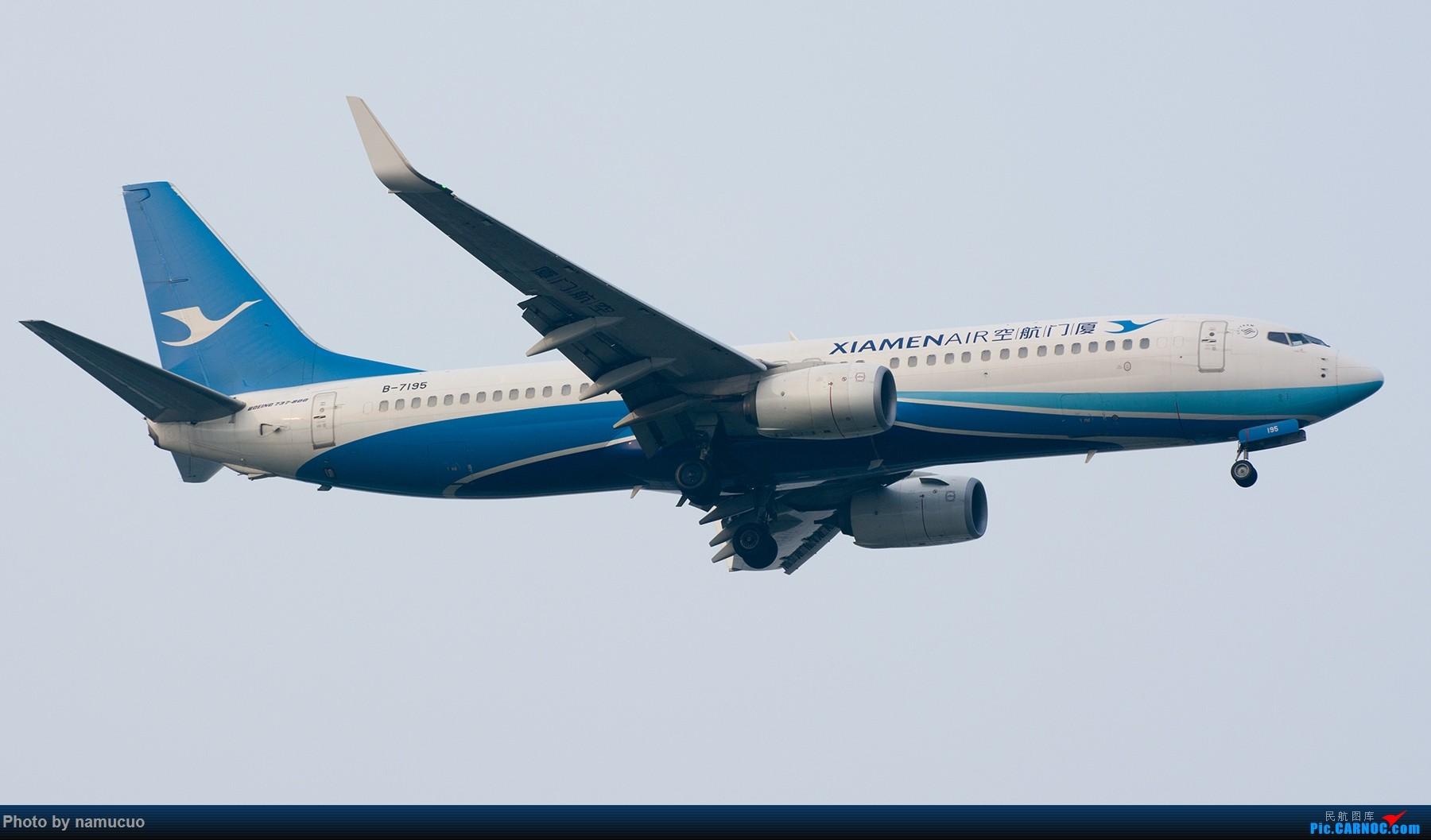 Re:[原创]【TSN】端午黄昏等拍一小时,12架,各有各的色彩也算收获吧 BOEING 737-800 B-7195