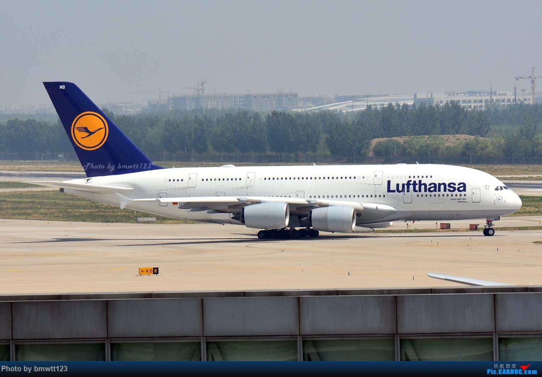 [原创]【PEK】东跑出发桥,观看汉莎宽体A346进场与A388离场,强势吹灰 AIRBUS A388 D-AIMB 中国北京首都国际机场