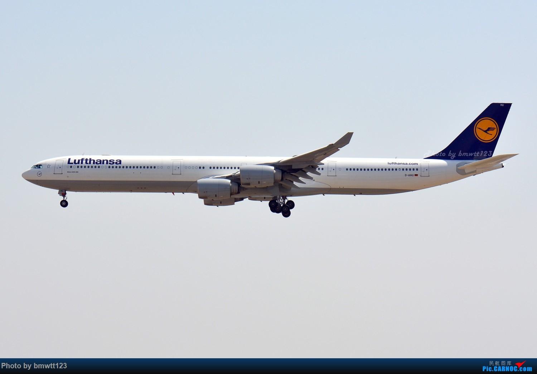 Re:[原创]【PEK】东跑出发桥,观看汉莎宽体A346进场与A388离场,强势吹灰 AIRBUS A346 D-AIHU 中国北京首都国际机场