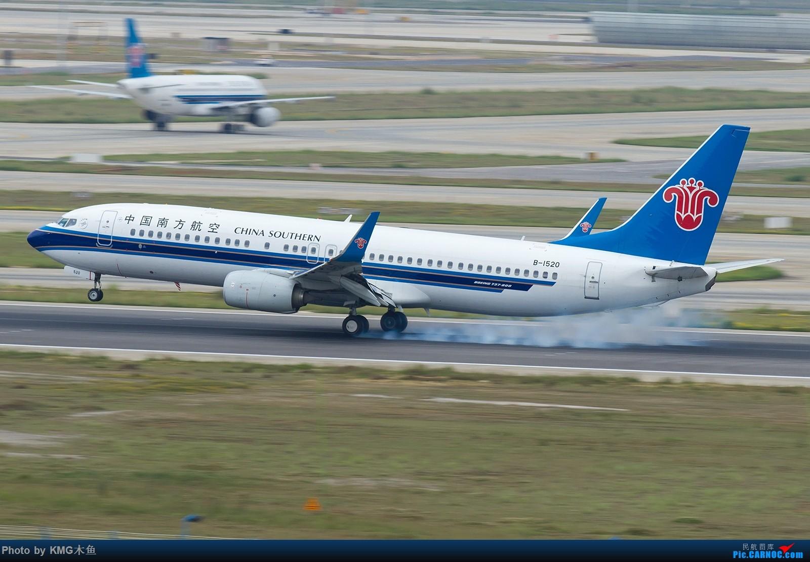 Re:[原创]【昆明长水国际机场——KMG木鱼拍机】第一次拍03落地擦烟 BOEING 737-800 B-1520 中国昆明长水国际机场