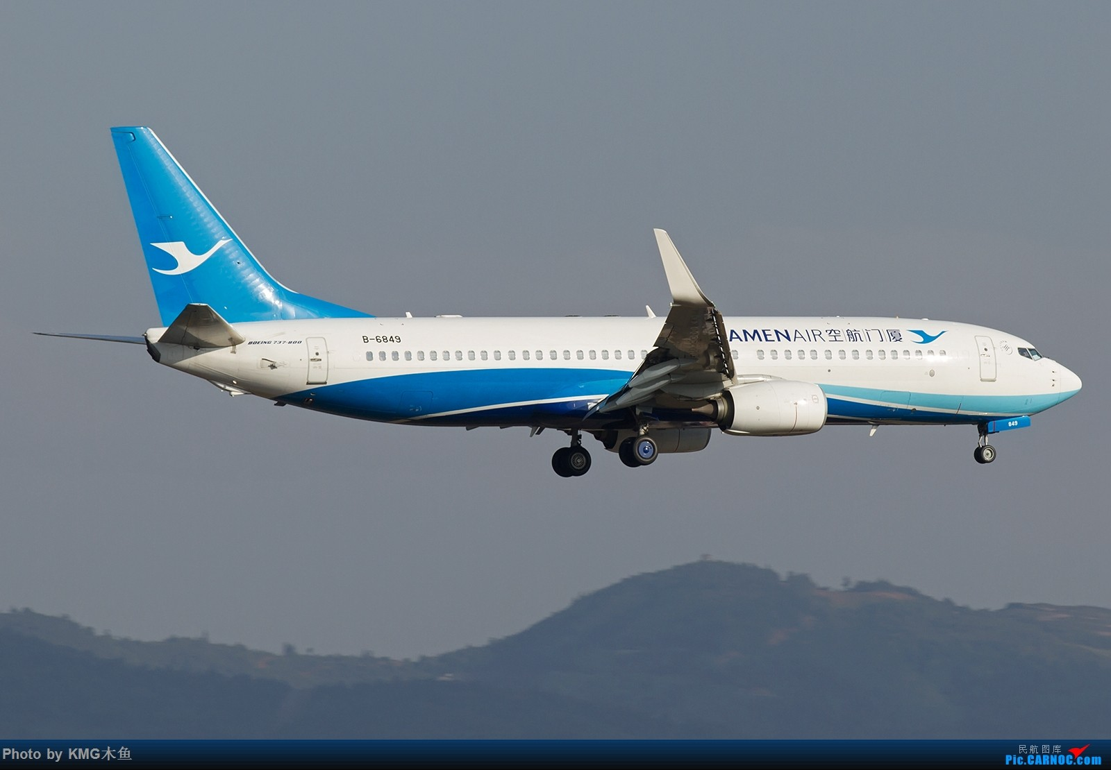 Re:[原创]【昆明长水国际机场——KMG木鱼拍机】向着功勋级出发,把库存图拿出来发了(高清大图) BOEING 737-800 B-6849 中国昆明长水国际机场