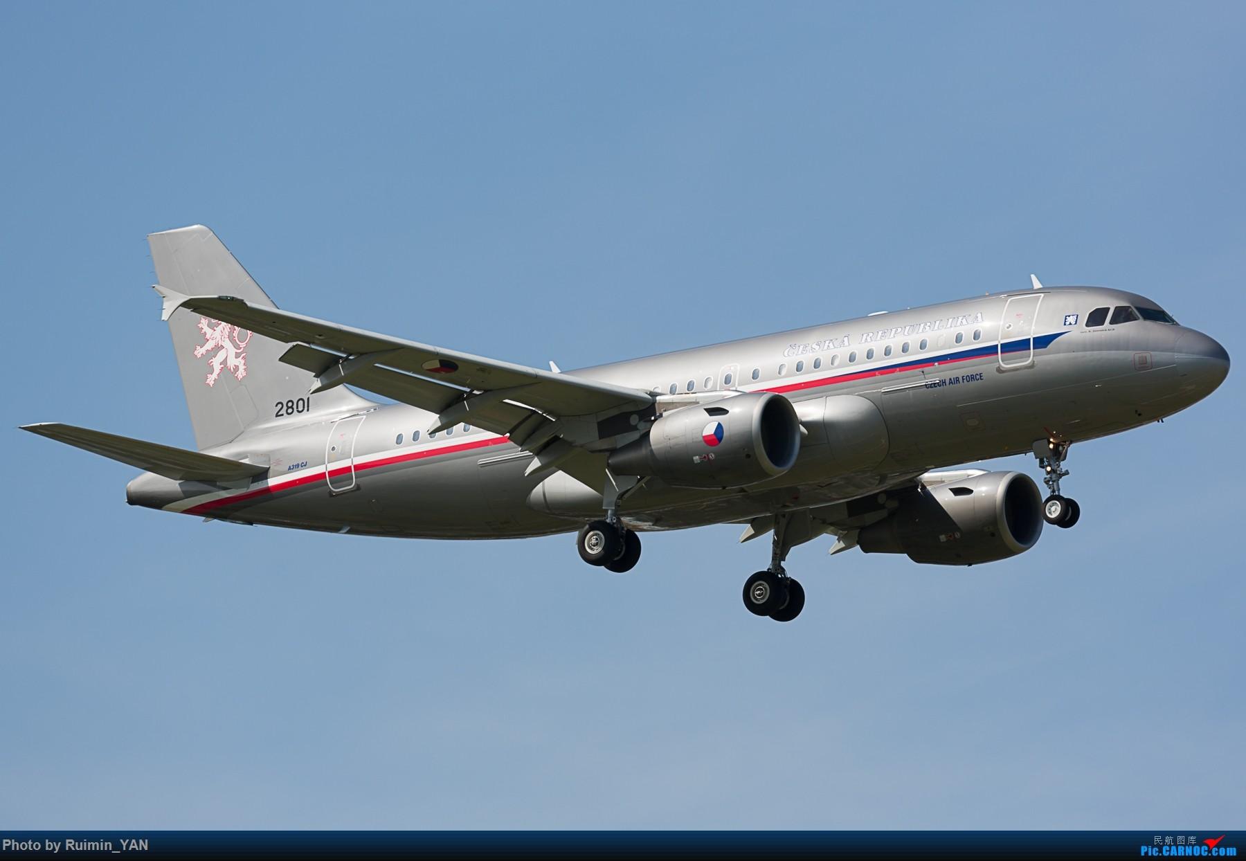 [原创]【PEK】【砖机】捷克总统泽曼访华 捷克空军(Czech Air Force) 2801 A319CJ AIRBUS A319-115CJ 2801 中国北京首都国际机场