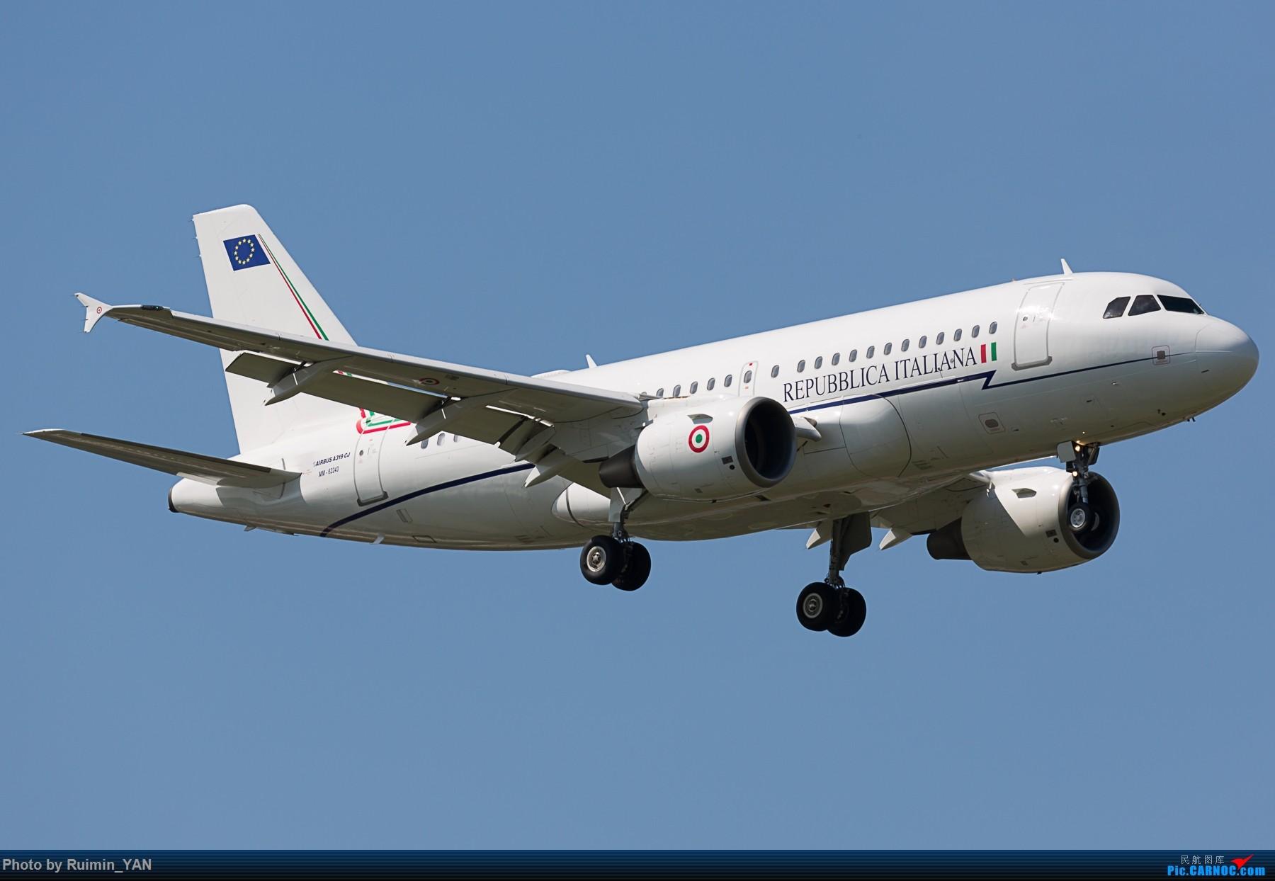 【PEK】【砖机】意大利外交与国际合作部长真蒂洛尼访华 意大利空军(Italian Air Force) MM62243 A319CJ AIRBUS A319-115CJ MM62243 中国北京首都国际机场