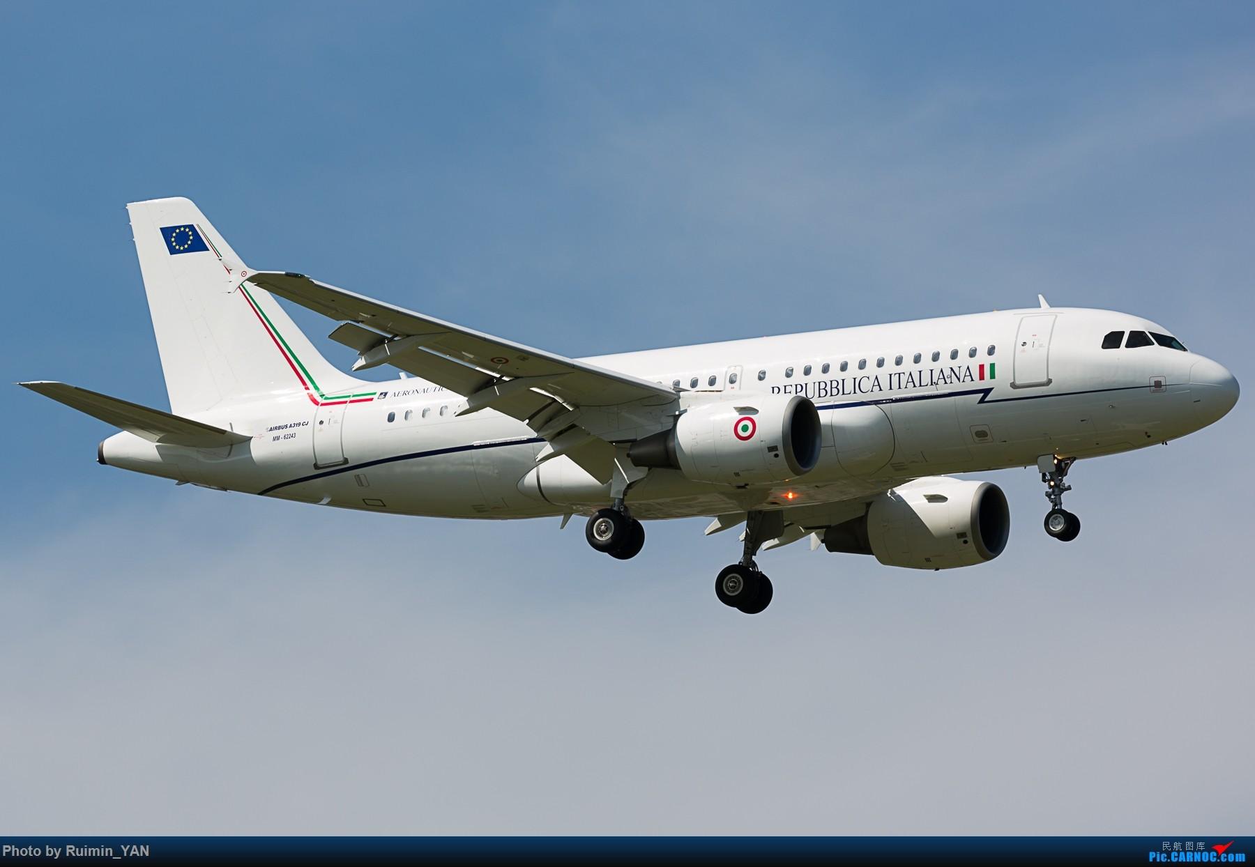 Re:[原创]【PEK】【砖机】意大利外交与国际合作部长真蒂洛尼访华 意大利空军(Italian Air Force) MM62243 A319CJ AIRBUS A319-115CJ MM62243 中国北京首都国际机场