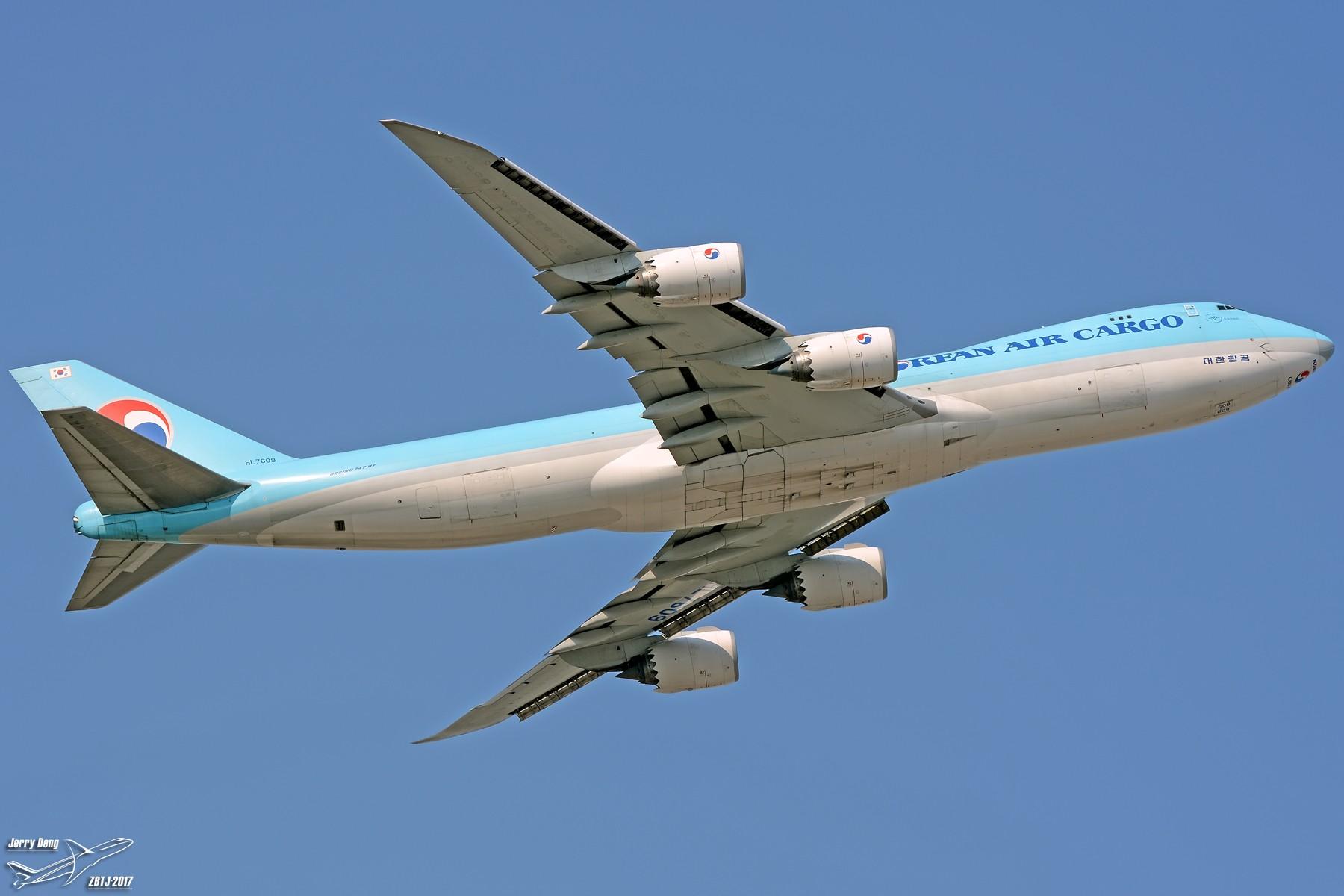 """Re:【多图党】TSN""""客梯车神仙位""""各种拉起高清大图让你一饱眼福 BOEING 747-8F HL7609 中国天津滨海国际机场"""