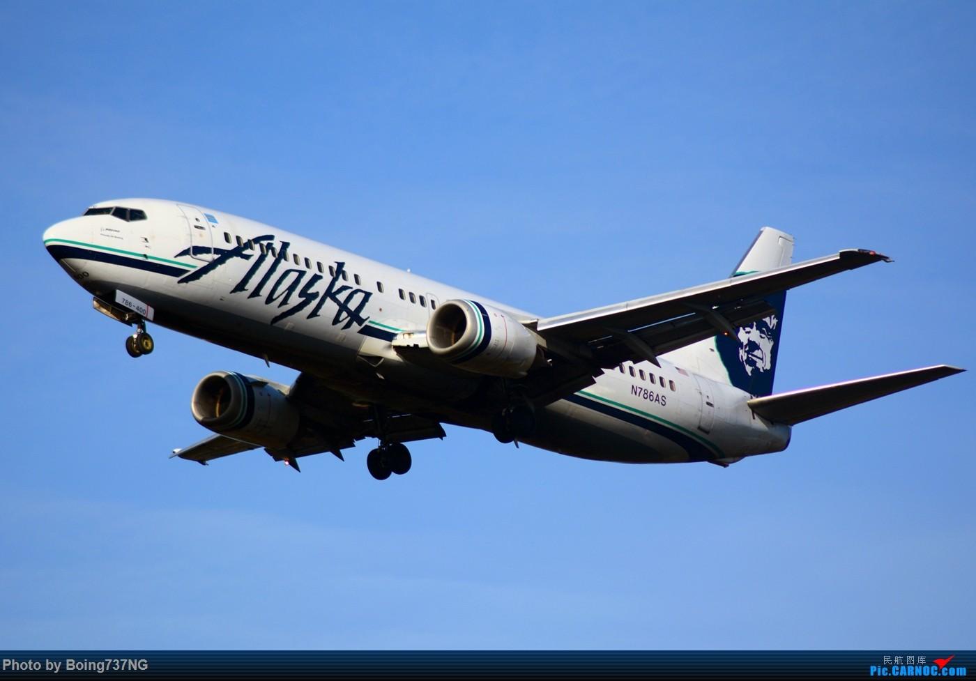 Re:[原创]【SEA-TAC】人生第一次的拍机收获 BOEING 737-400 N785AS 美国西雅图机场