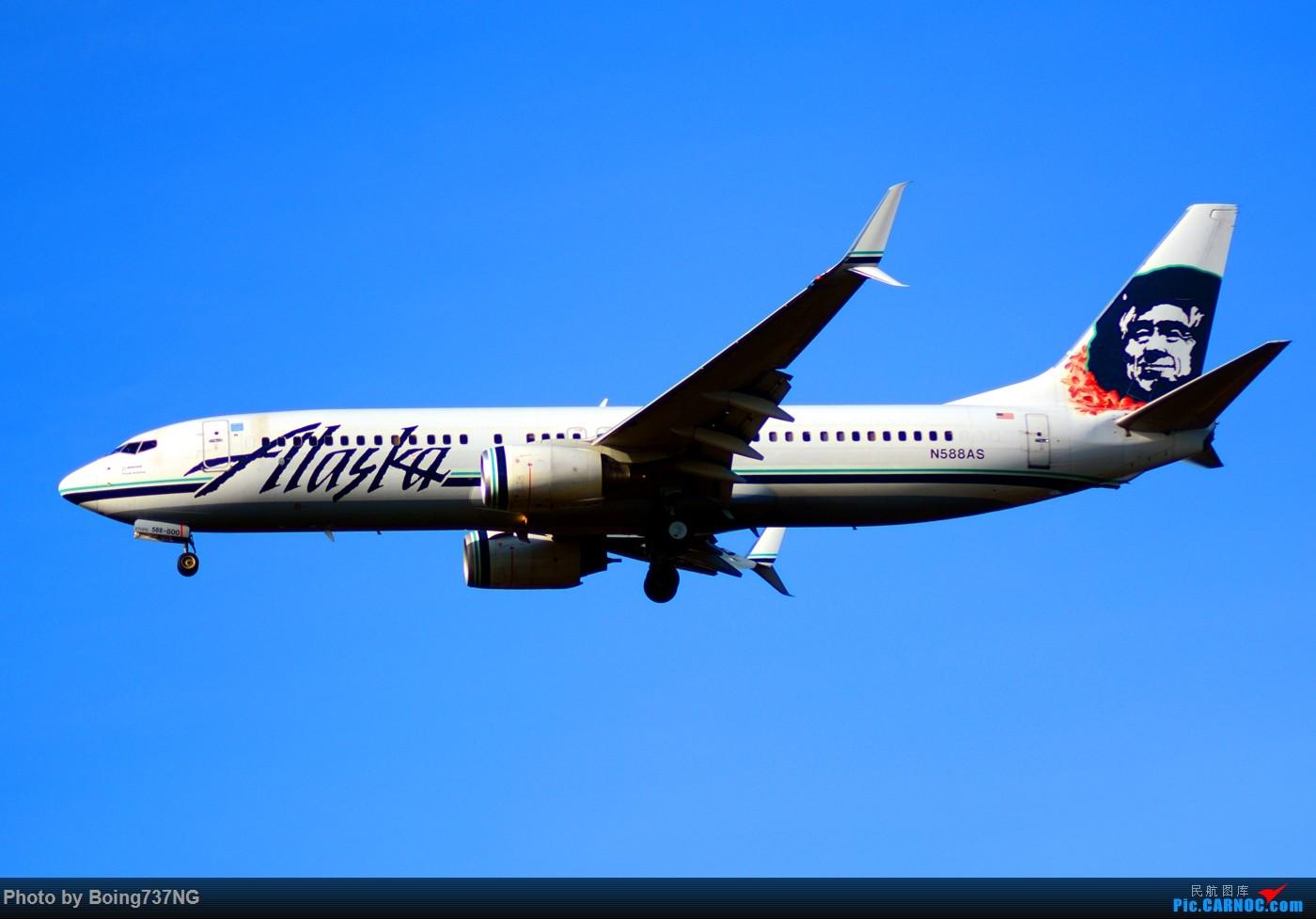 Re:[原创]【SEA-TAC】人生第一次的拍机收获 BOEING 737-800 N588AS 美国西雅图机场