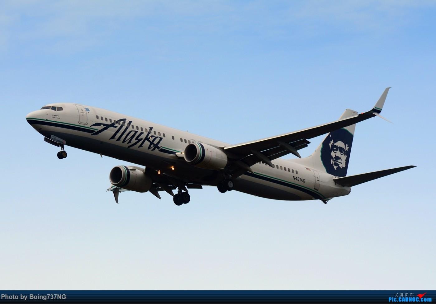 Re:[原创]【SEA-TAC】人生第一次的拍机收获 BOEING 737-900ER N431AS 美国西雅图机场