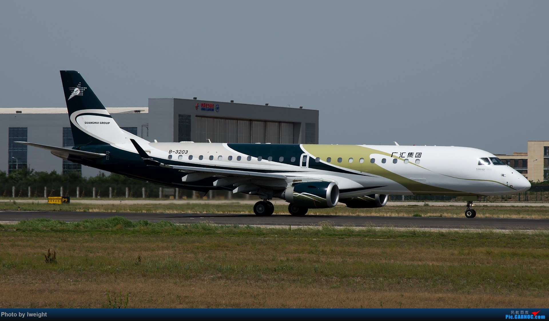 Re:[原创]很不错的天气,18R一组 EMBRAER LINEAGE 1000 B-3203 中国北京首都国际机场