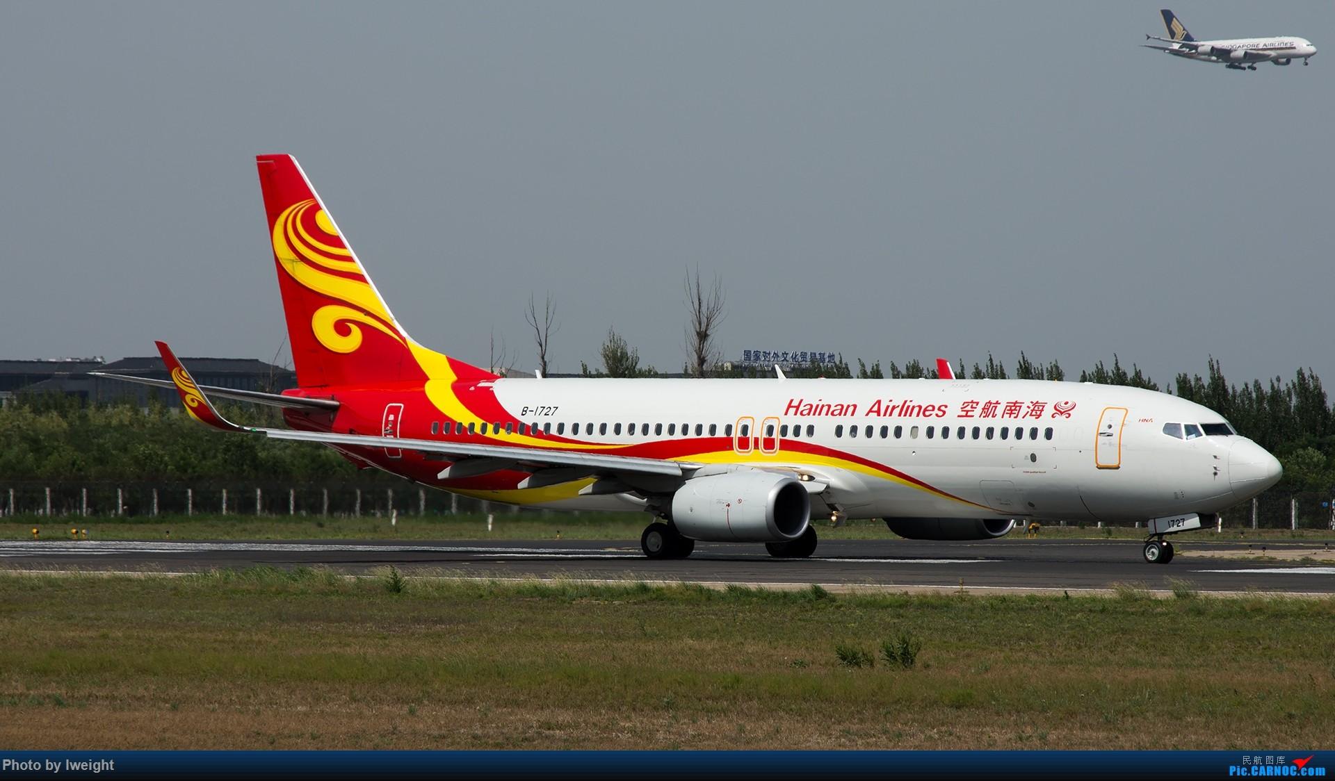 Re:[原创]很不错的天气,18R一组 BOEING 737-800 B-1727 中国北京首都国际机场