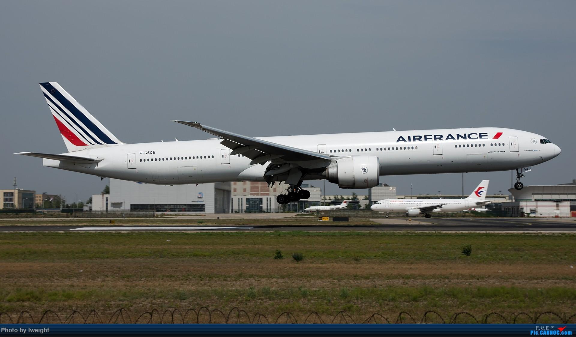 Re:[原创]很不错的天气,18R一组 BOEING 777-300ER F-GSQB 中国北京首都国际机场