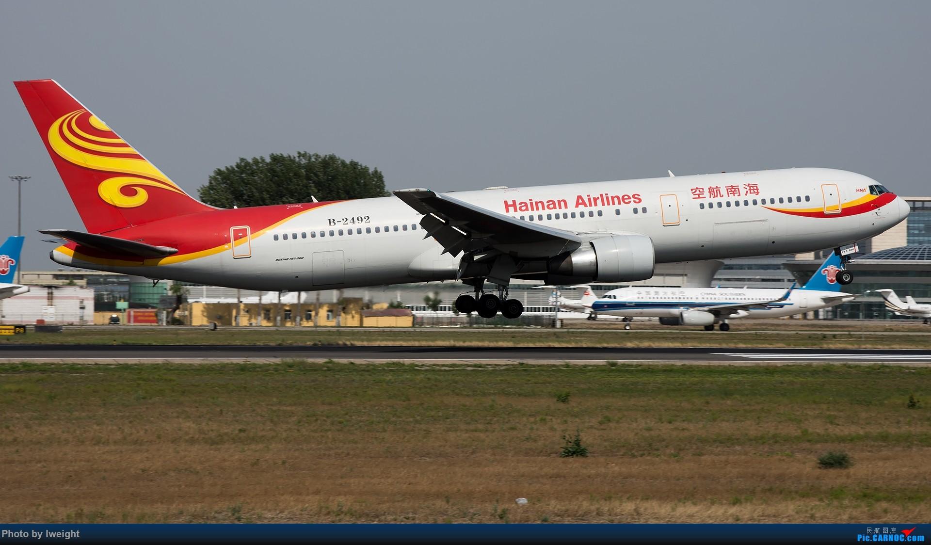 Re:[原创]很不错的天气,18R一组 BOEING 767-300 B-2492 中国北京首都国际机场