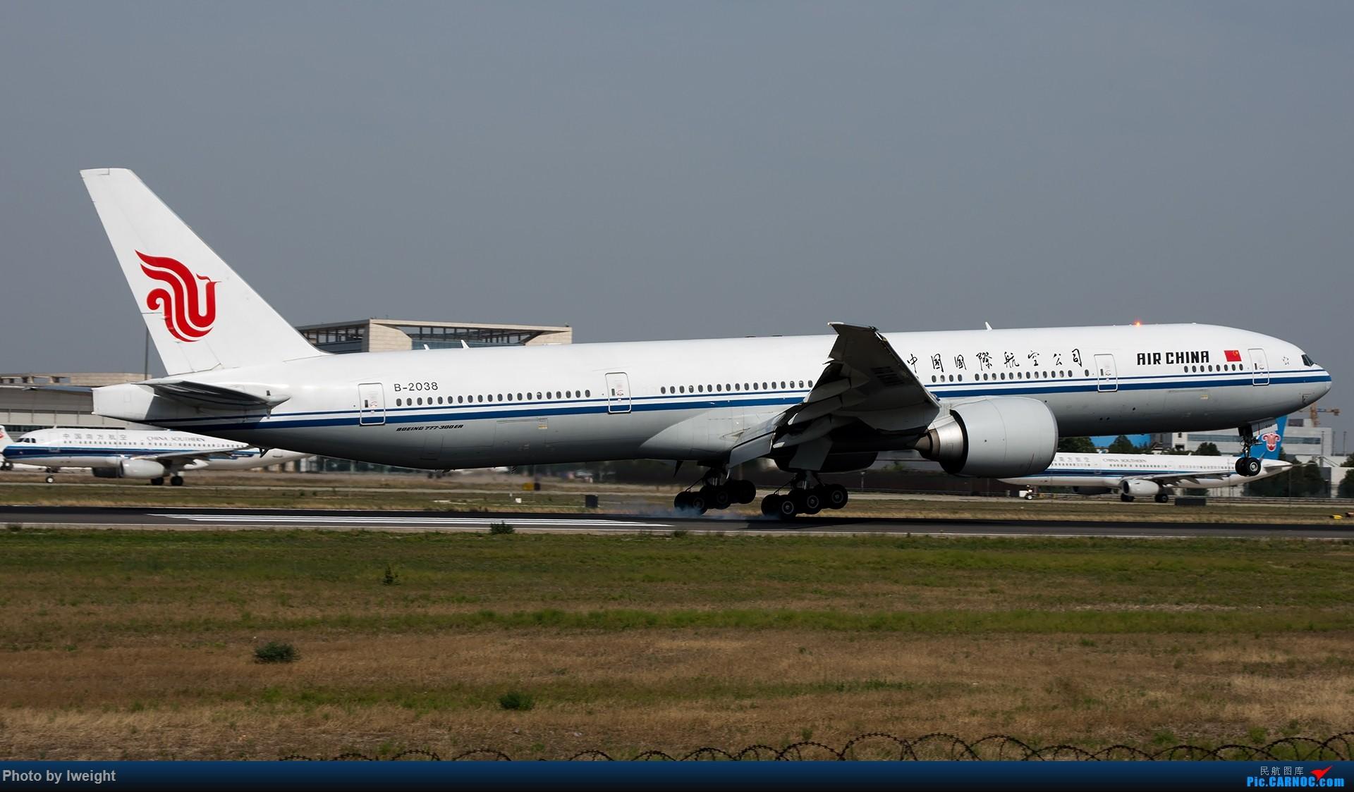 Re:[原创]很不错的天气,18R一组 BOEING 777-300ER B-2038 中国北京首都国际机场